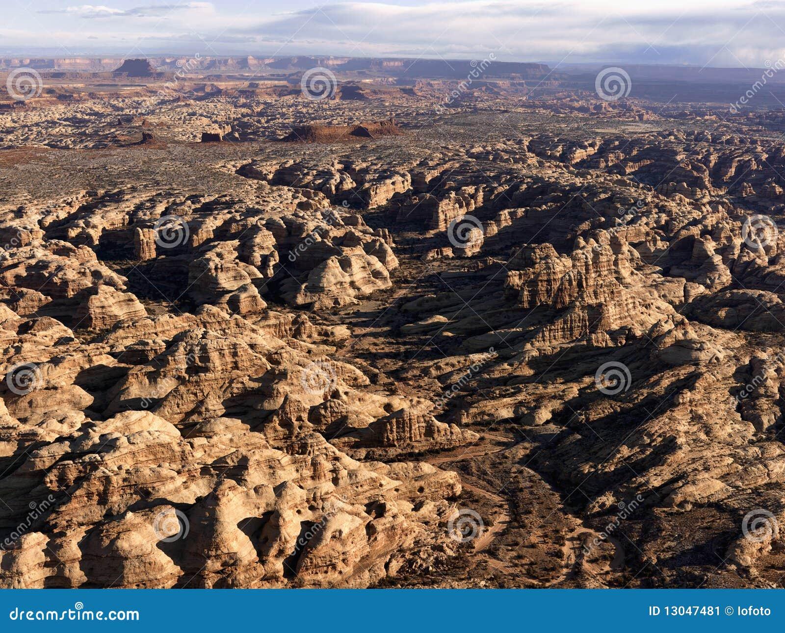 Formations de roche dans le désert