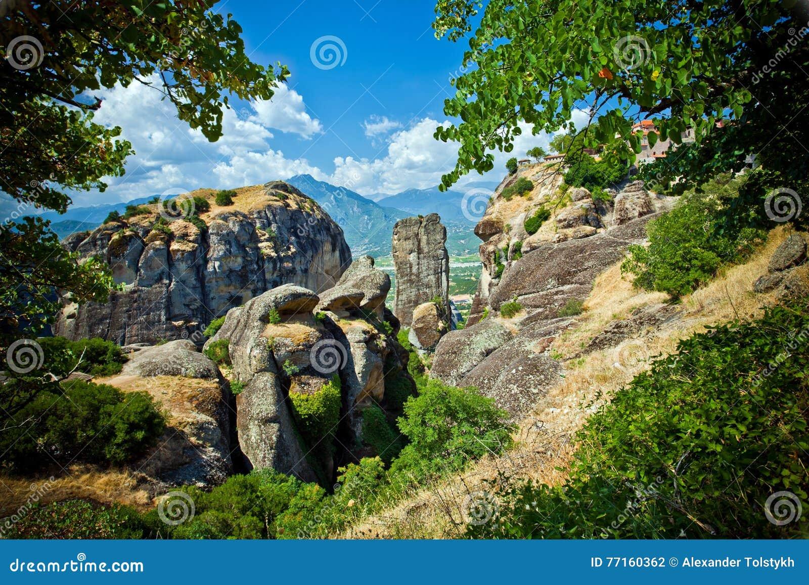Formations de roche de Meteora