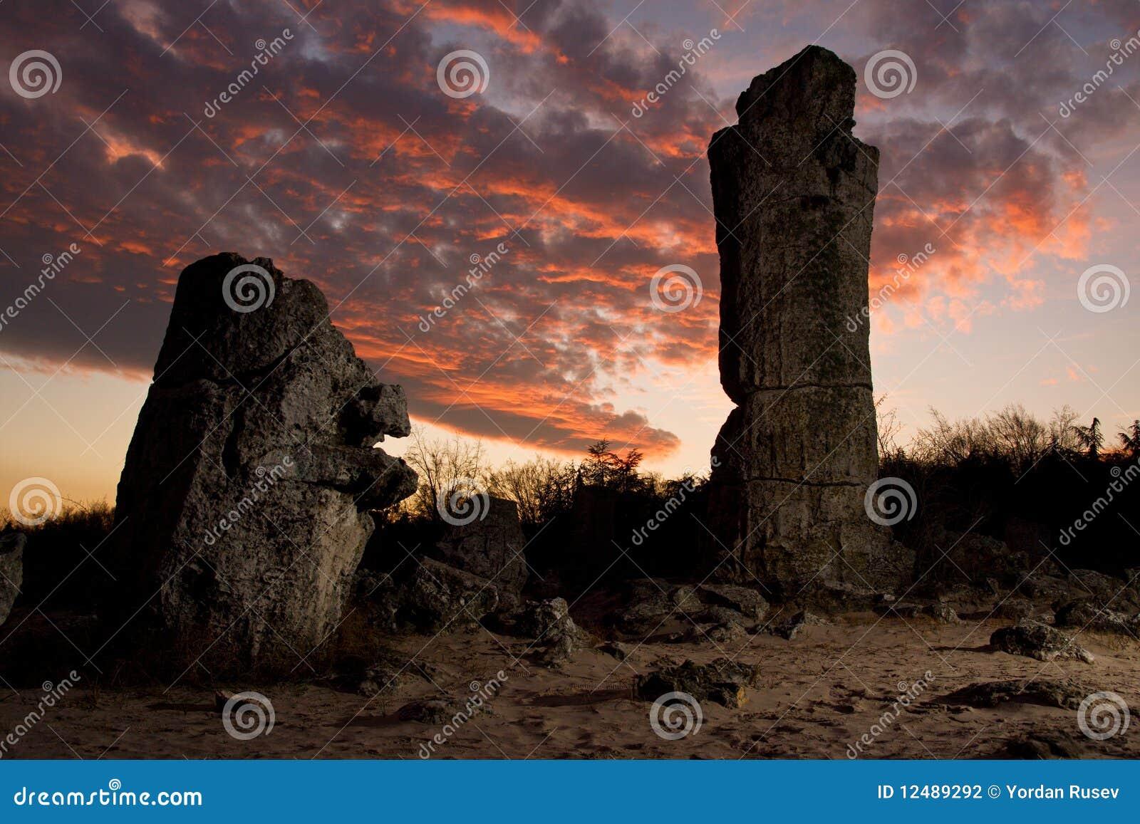 Formations de roche de phénomène