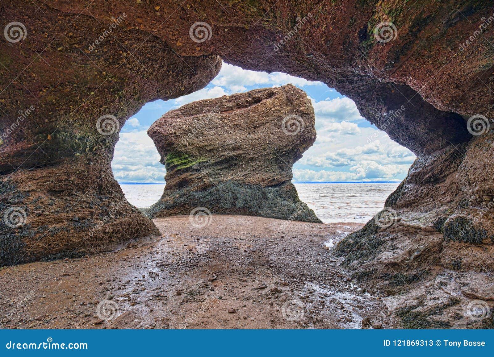 Formations de roche de grès rouge de voûte