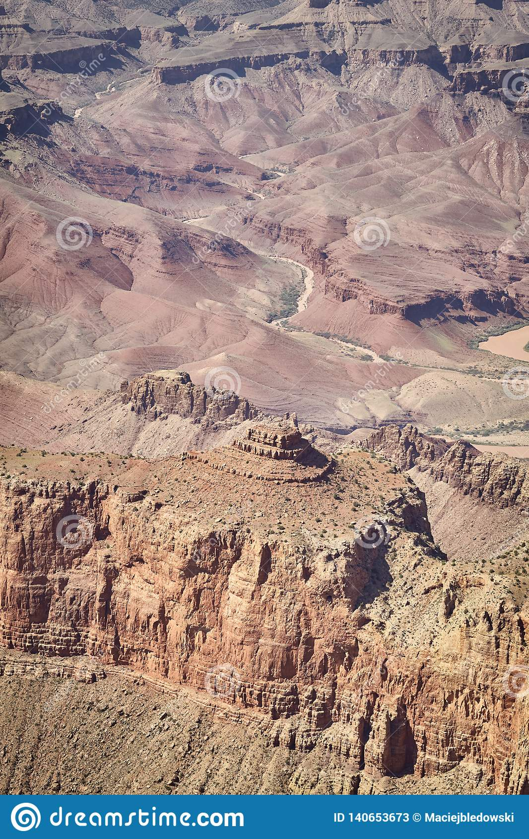 Formations de roche de Grand Canyon, Arizona, Etats-Unis