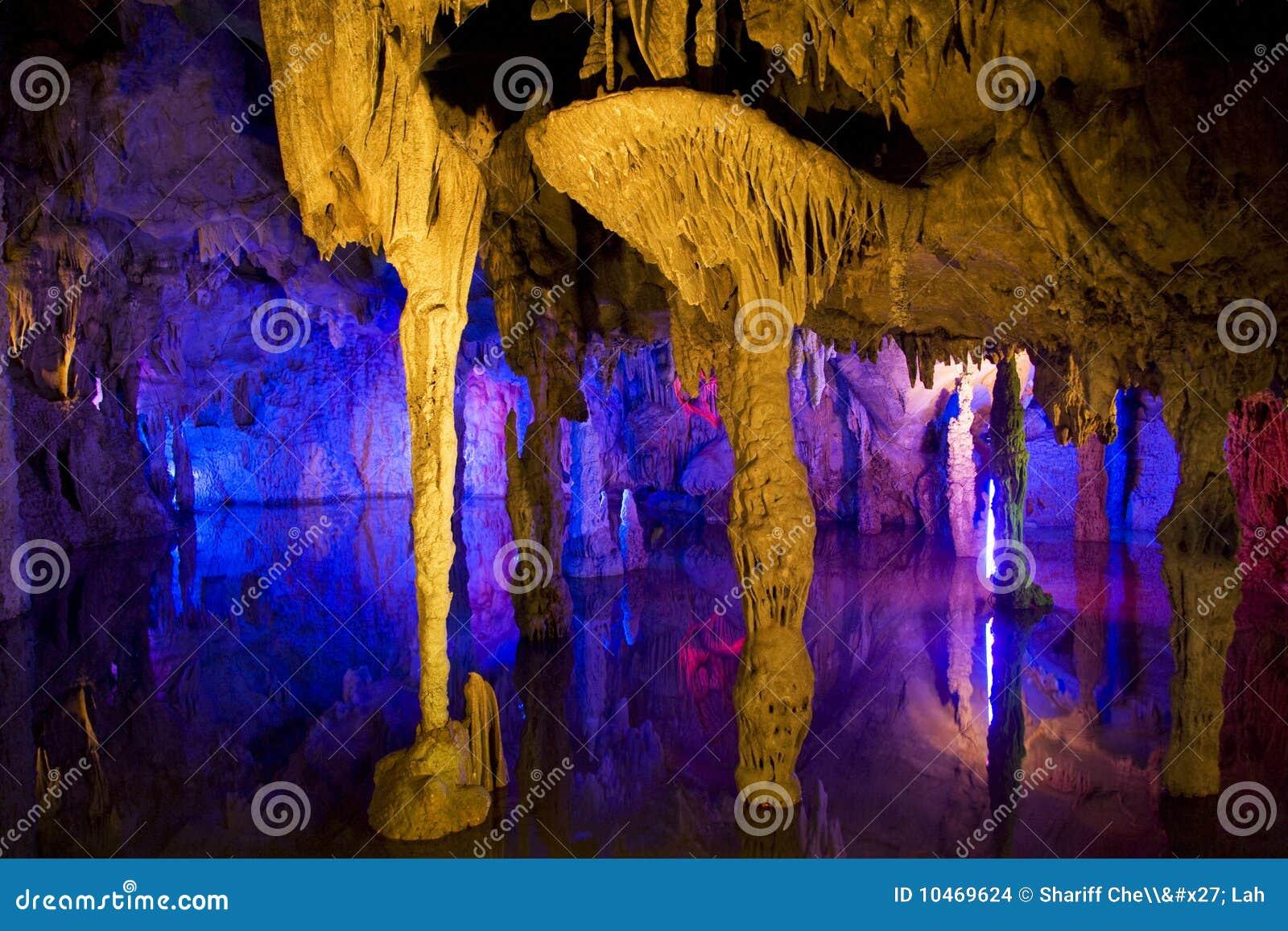 Formations de stalactite et de Stalagmite
