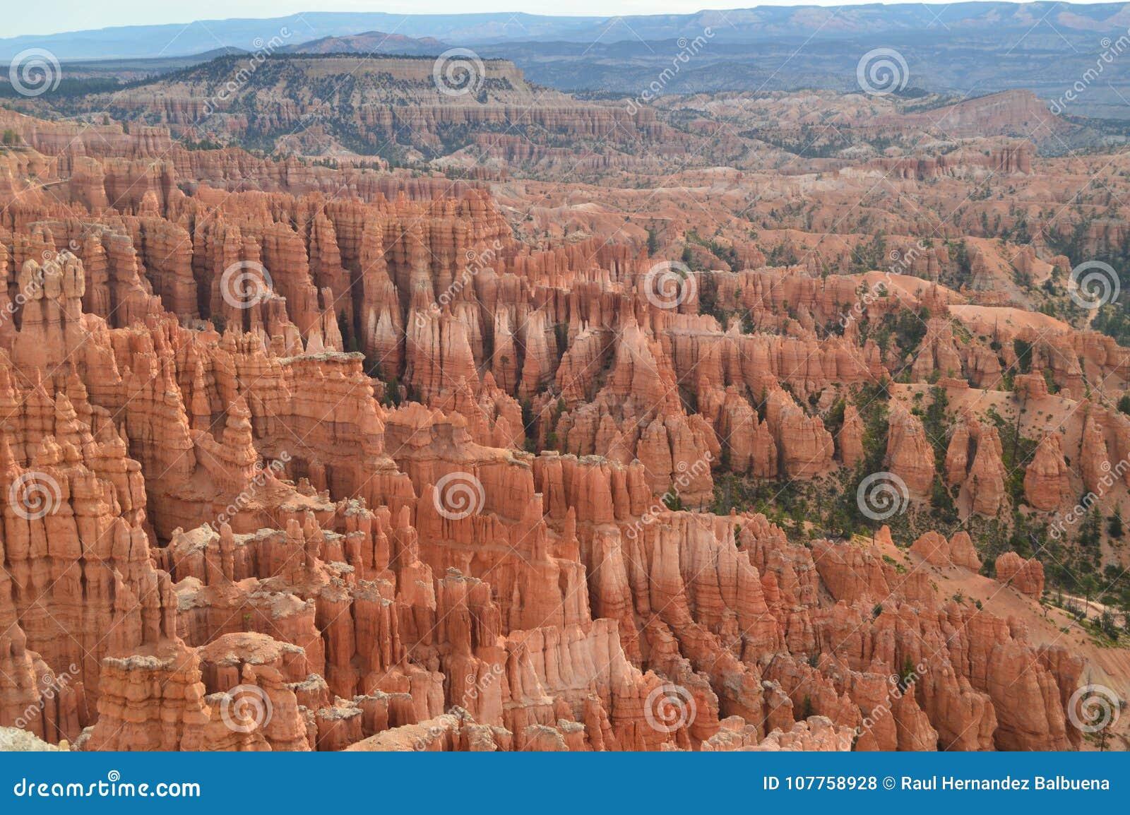 Formations merveilleuses de Hodes en Bryce Canyon géologie Voyage nature