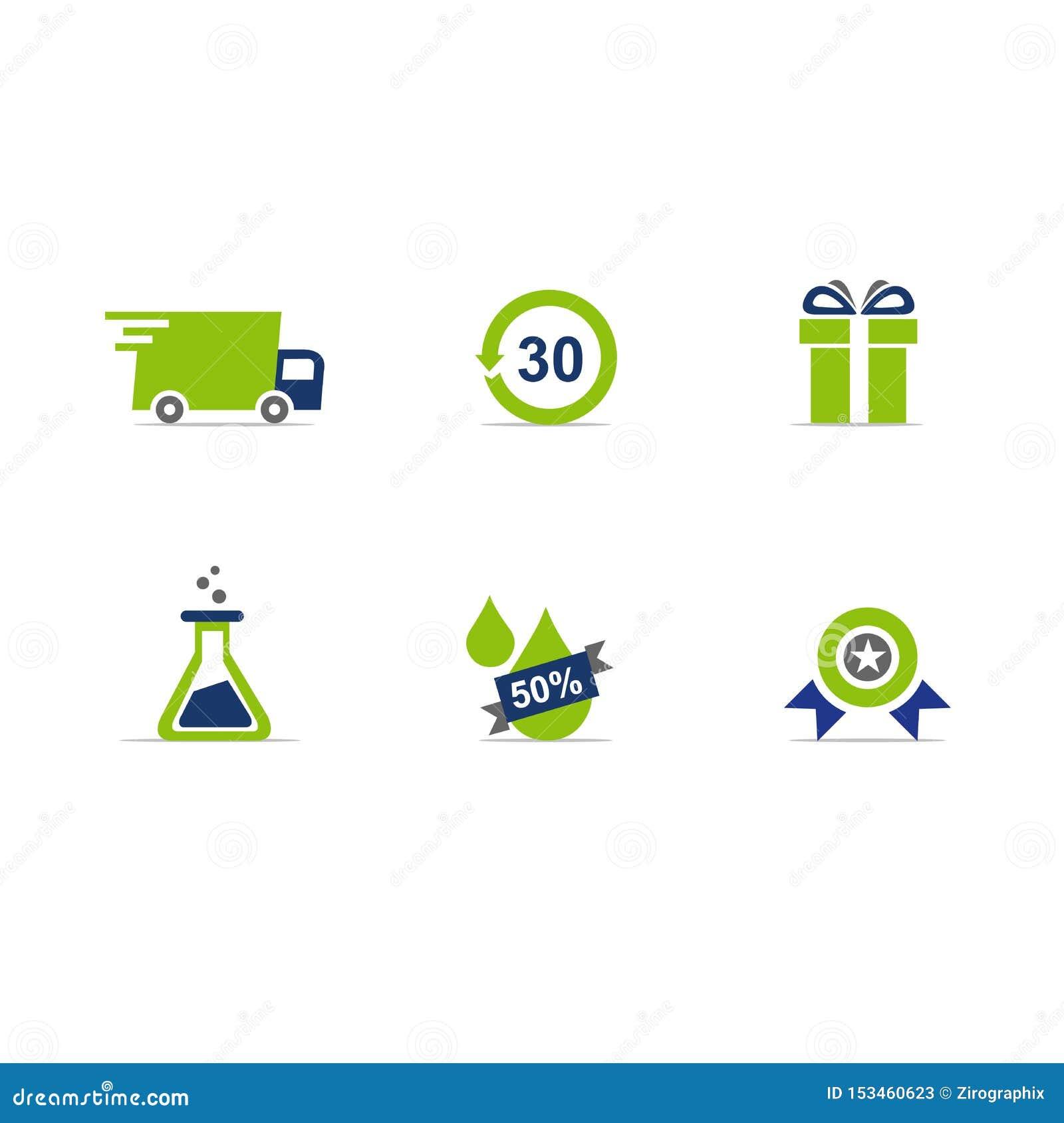 Formato di vettore delle icone del sito Web di commercio elettronico