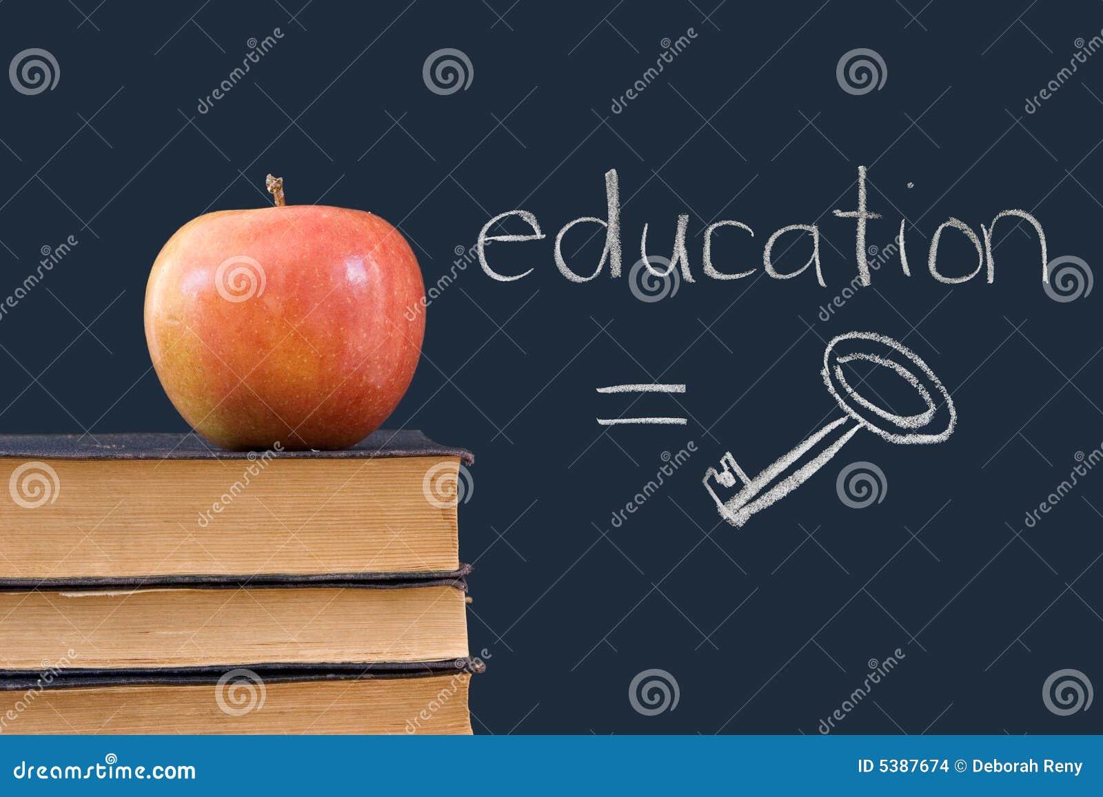 Formazione = tasto - scritto sulla lavagna con la mela