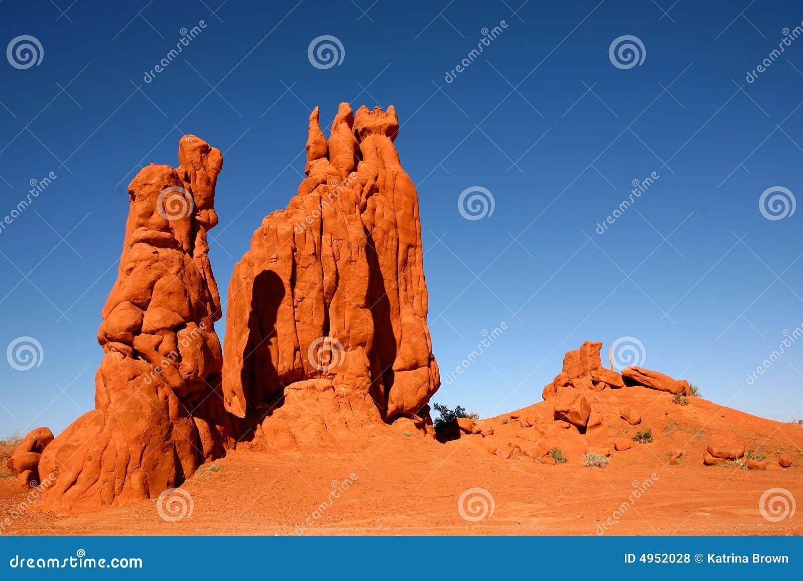 Formazioni rocciose del deserto in valle Arizona del monumento