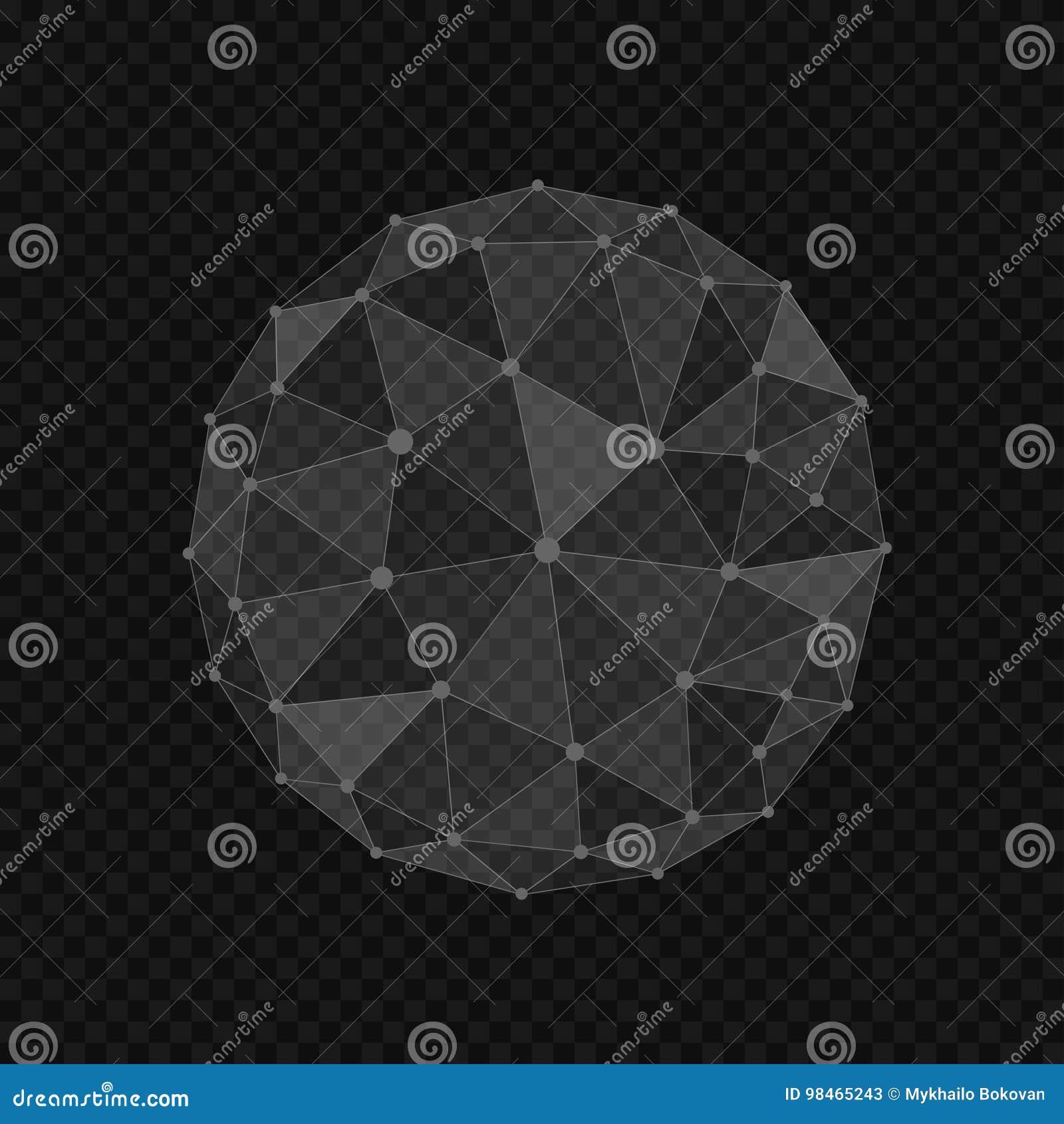 Forme abstraite de globe
