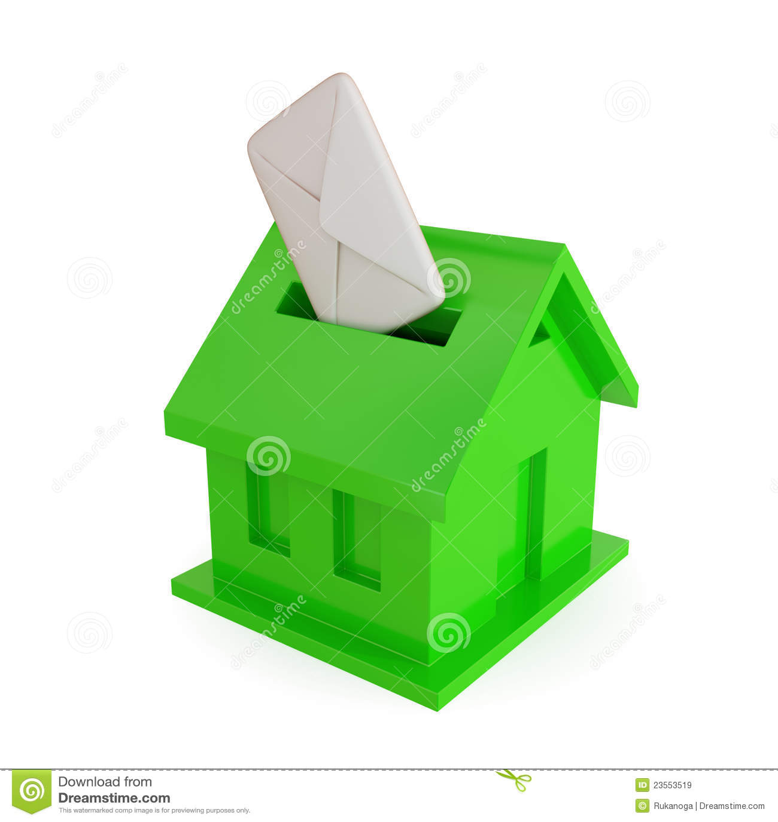 Forme de bo te aux lettres de maison images libres de for Forme de maison