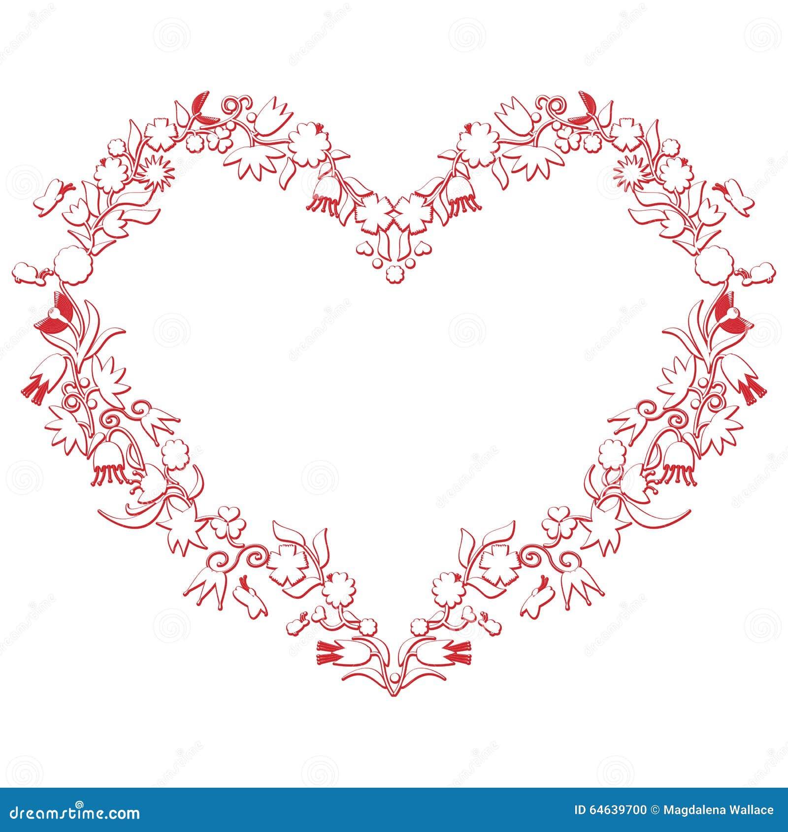 forme de coeur d 39 amour de jour de valentines avec le