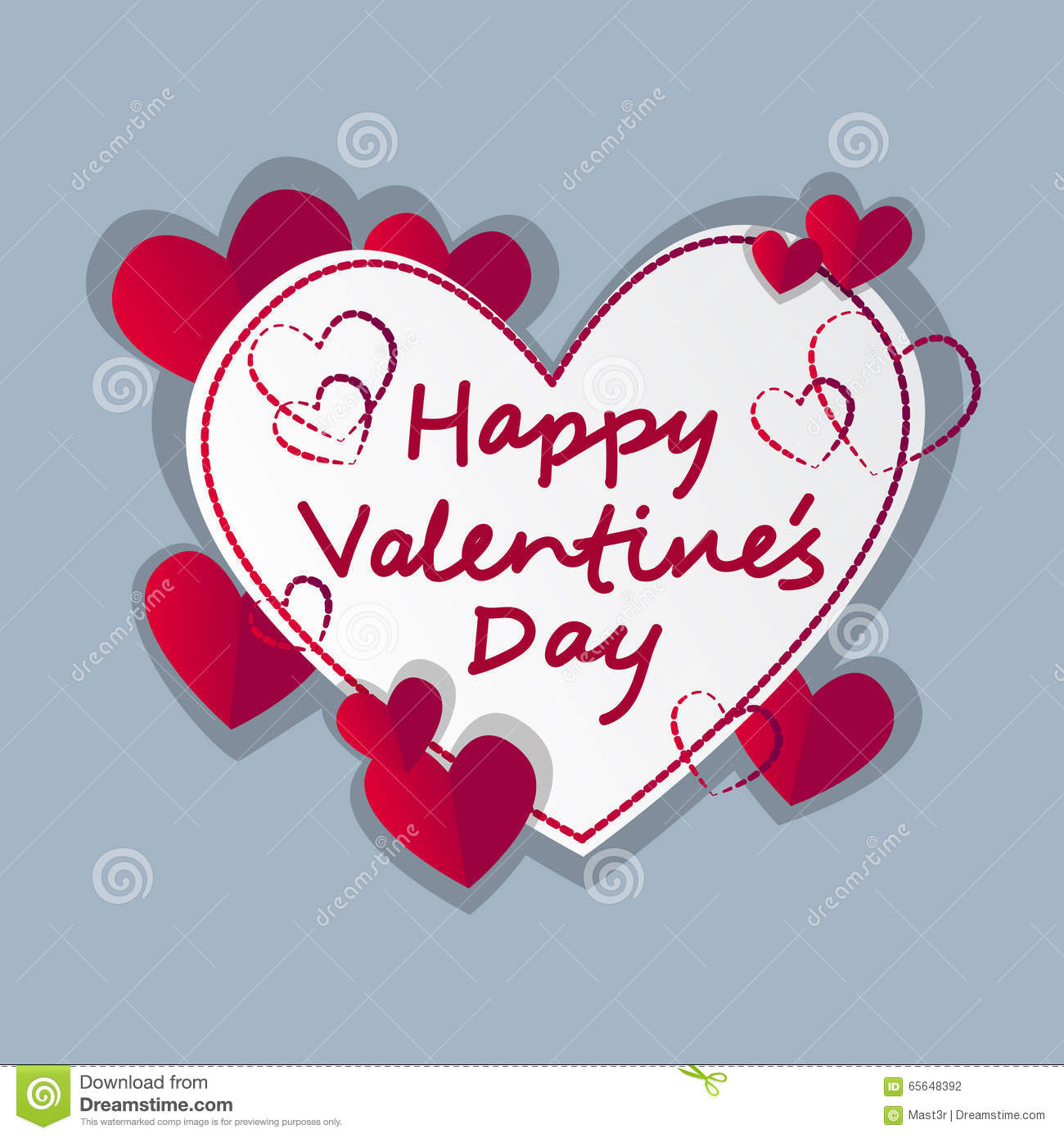 Forme de coeur d amour de Valentine Day Gift Card Holiday