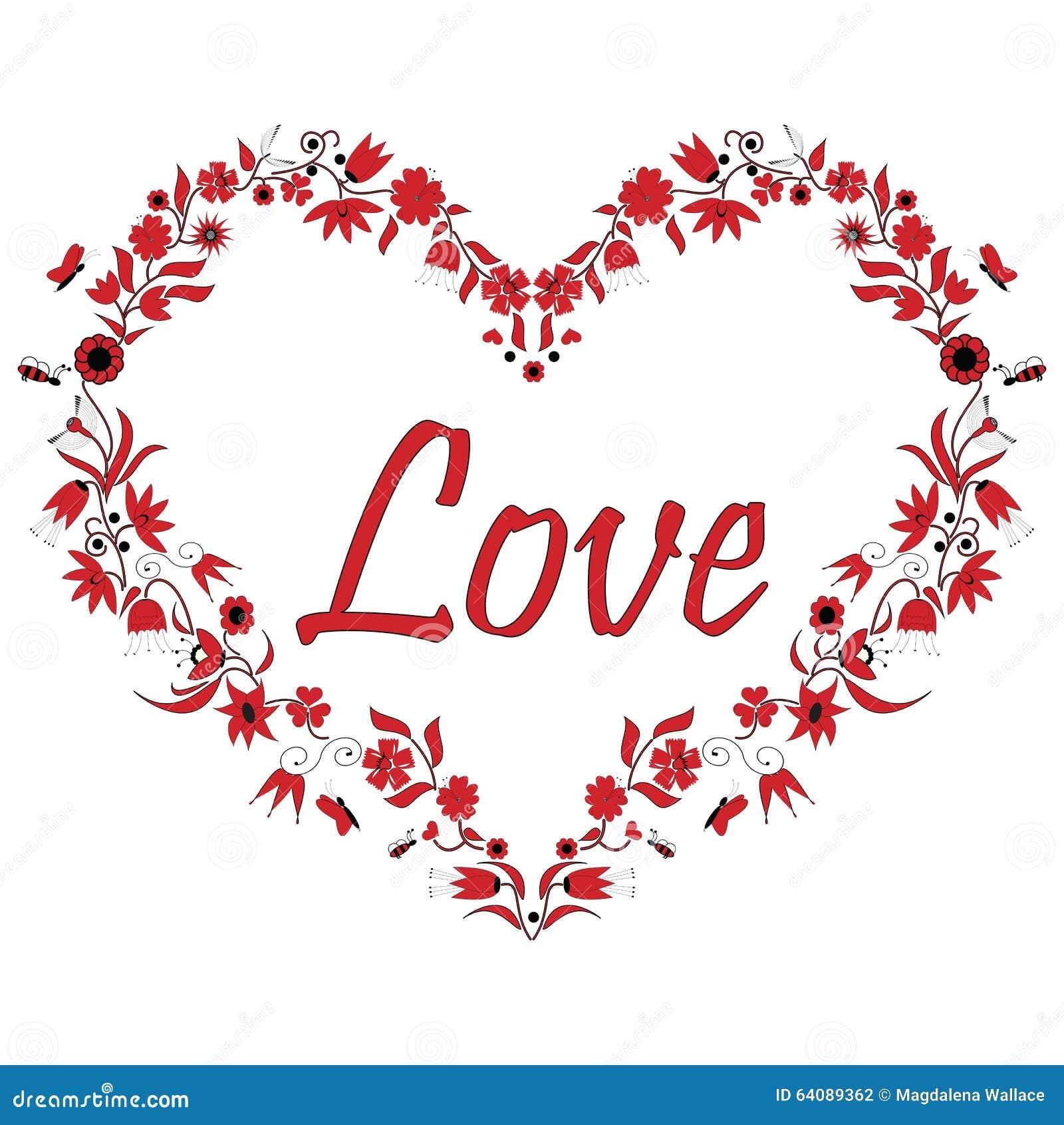 Forme de coeur d 39 amour de valentines avec le dessin illustration de vecteur illustration du - Photo de coeur d amour ...