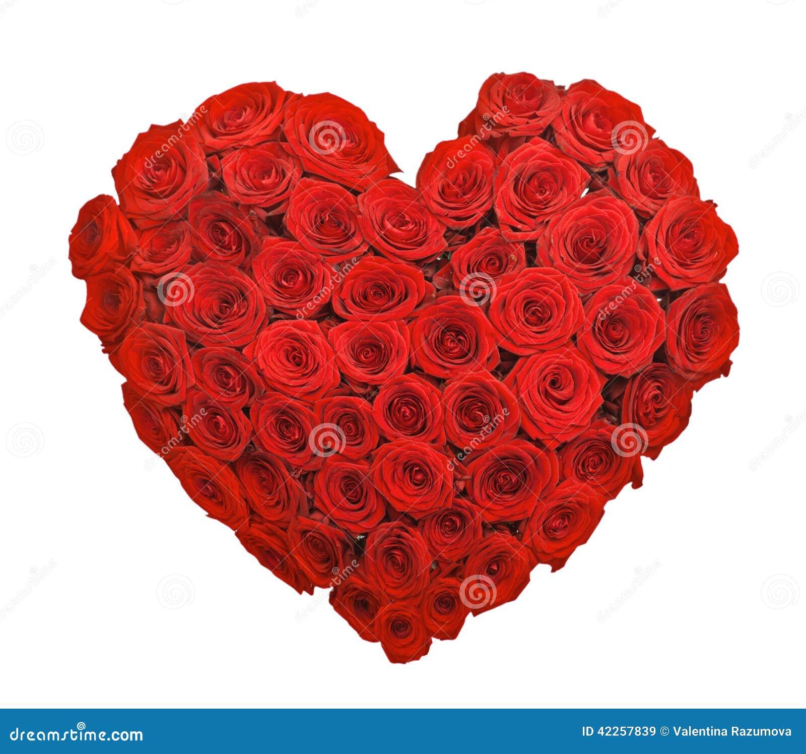 Forme de coeur de bouquet de fleur de rose de rouge photo stock image 4225 - Fleurs en forme de coeur ...