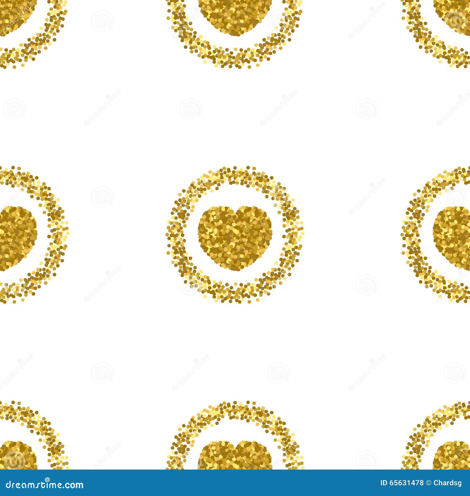 Forme de coeur de scintillement d or Modèle de scintillement de coeur Étincelles d or