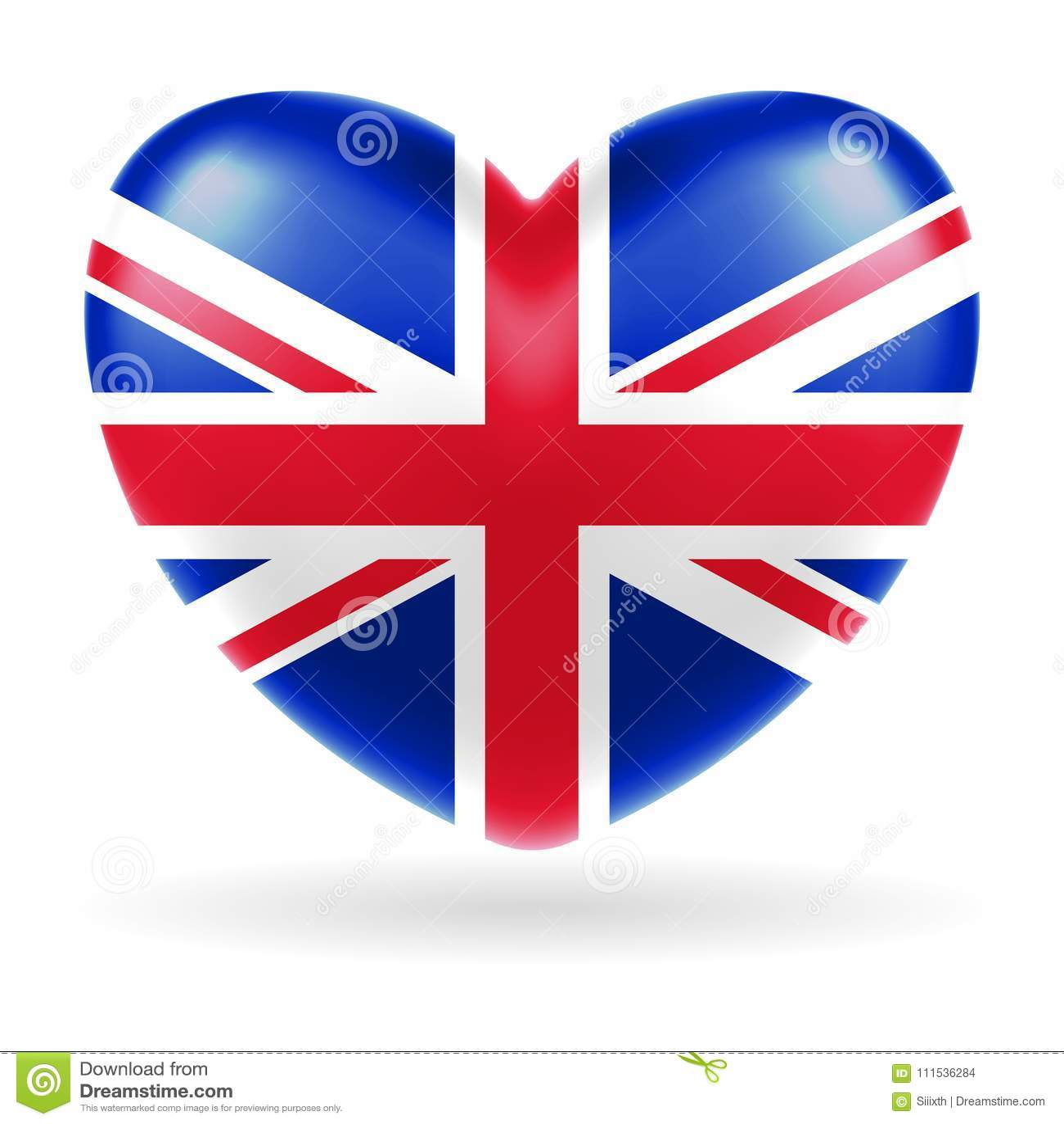 forme de coeur de drapeau de l u0026 39 angleterre royaume