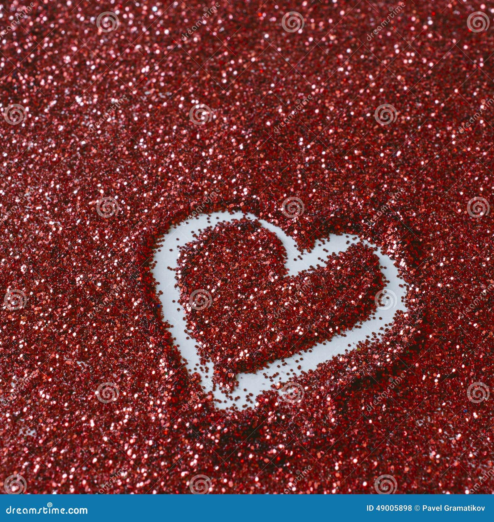 Forme de coeur sur le scintillement