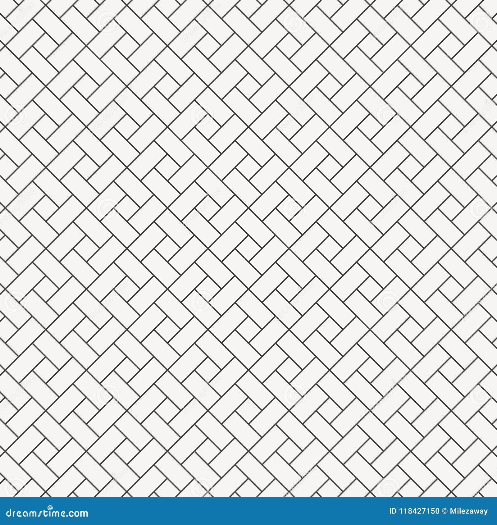 Forme de diamant de place de conception de modèle de vecteur la répétition avec la pente de blanc bloque le carrelage Briques de