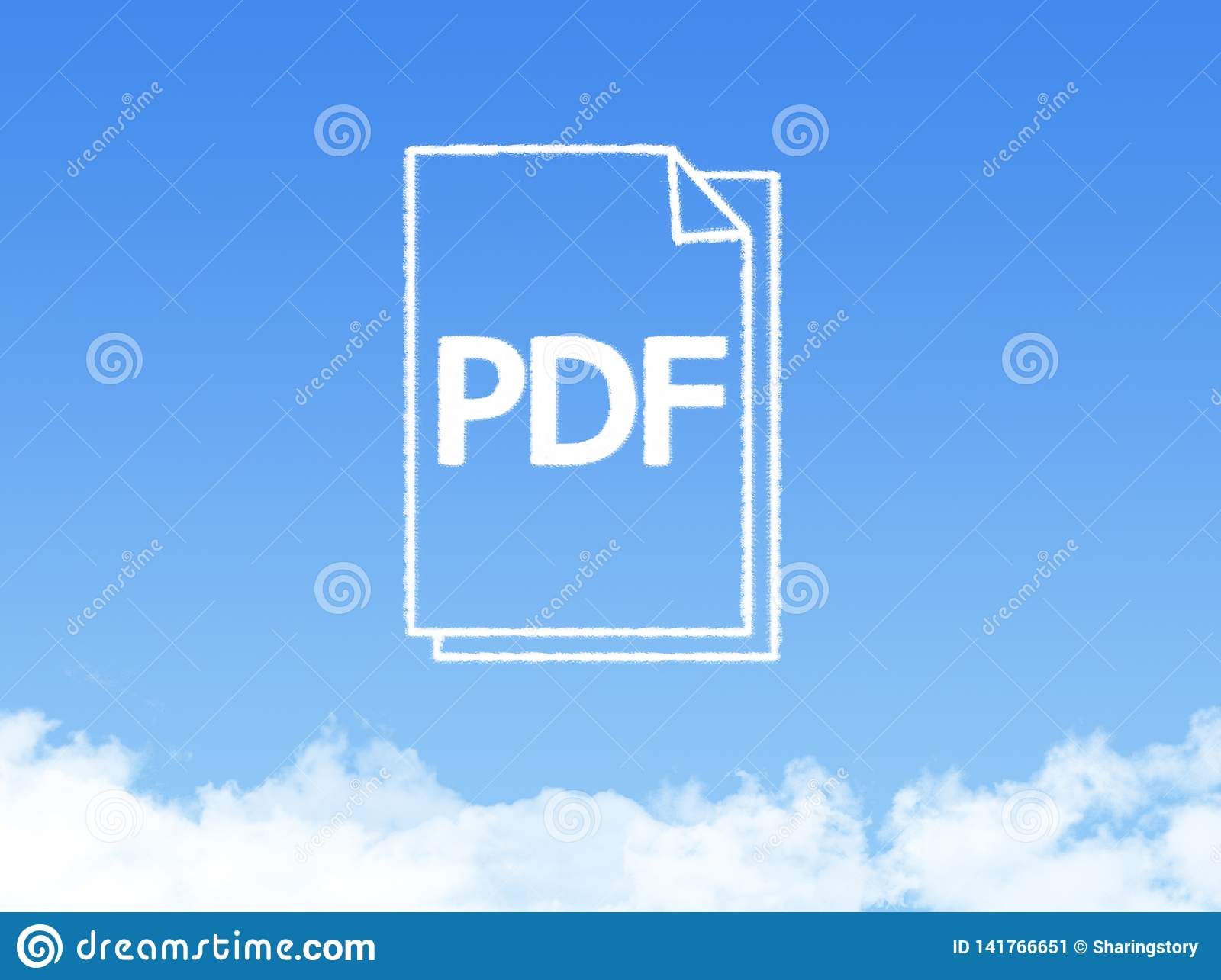Forme de nuage de document sur papier de bloc-notes