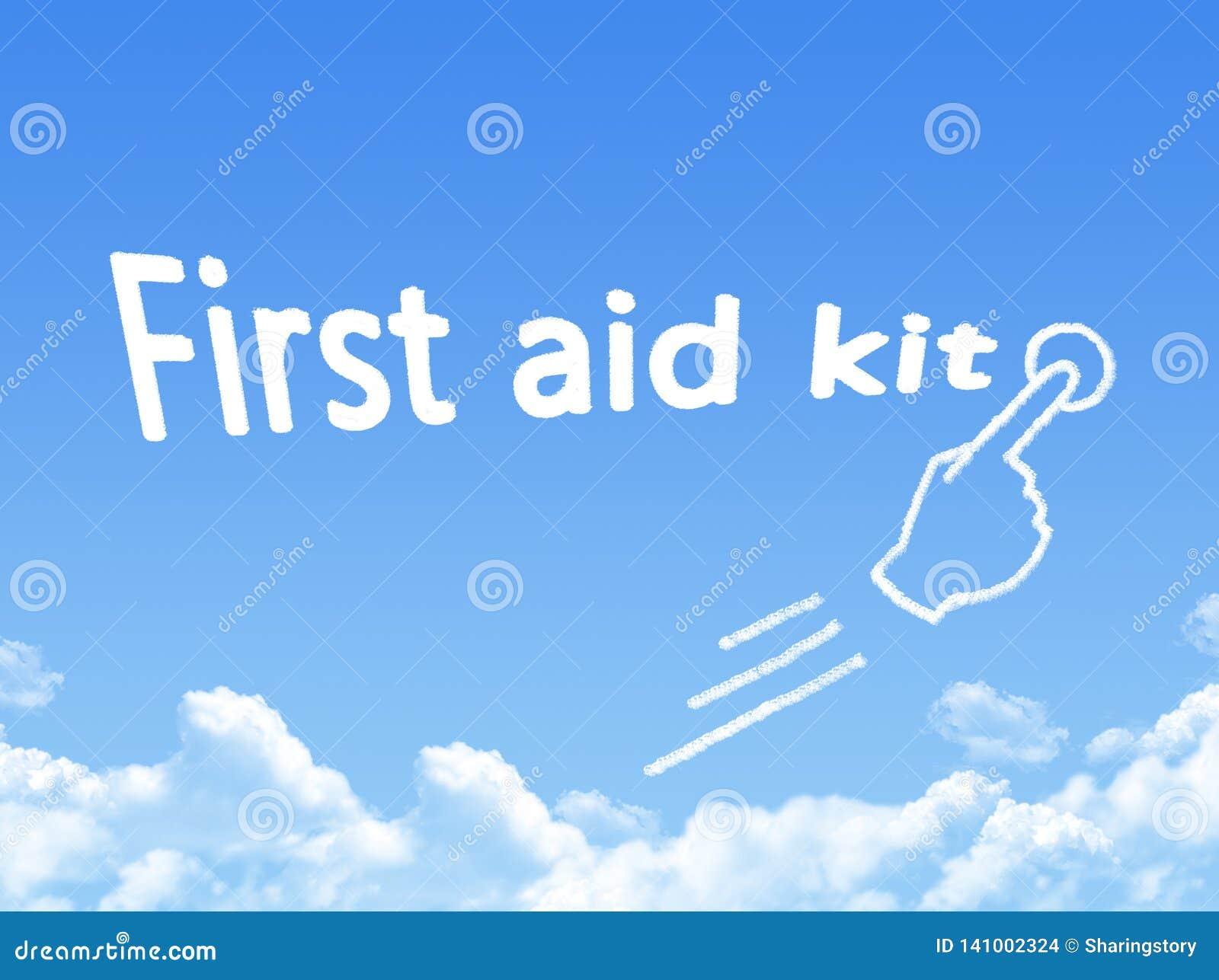 Forme de nuage de message de kit de premiers secours