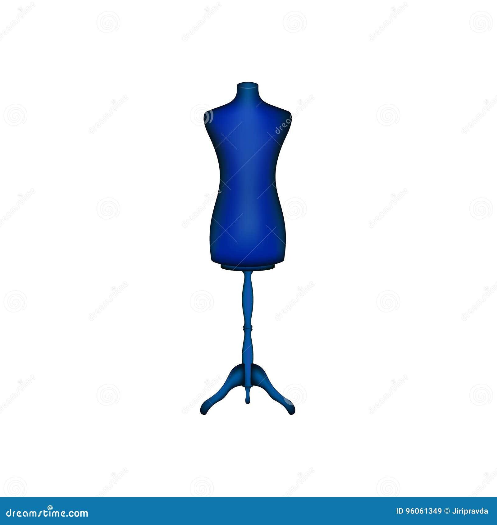 Forme de robe de vintage dans la conception bleue