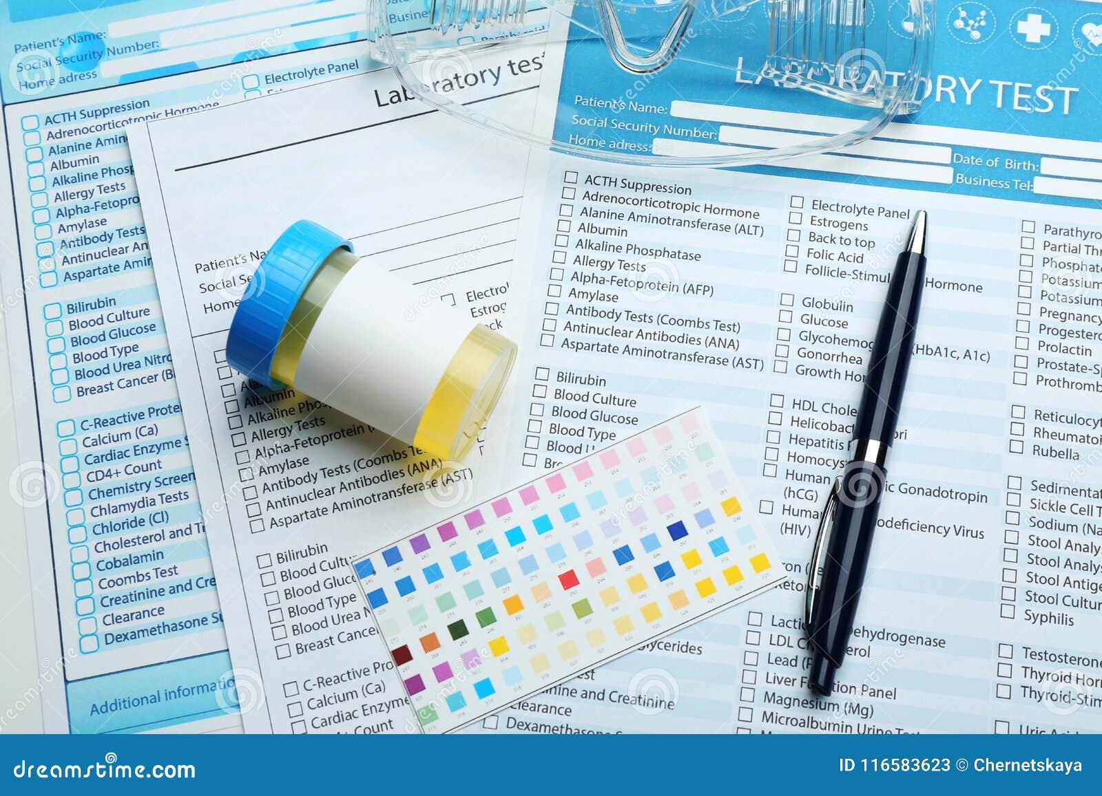 Forme della prova di laboratorio e dell attrezzatura medica
