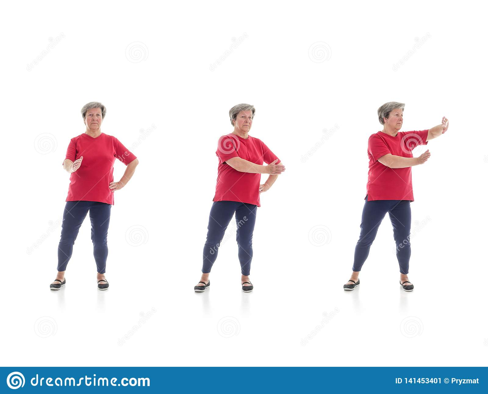 Forme di  chi  del Tai eseguite dalla donna più anziana
