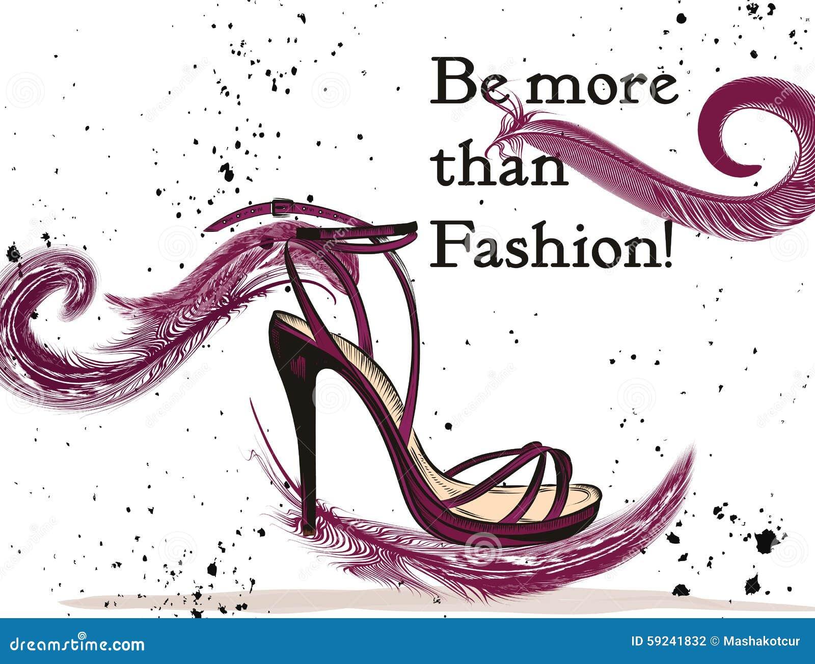 Download Forme El Ejemplo Con El Zapato Femenino Elegante Con El Arco Ilustración del Vector - Ilustración de zapato, estilo: 59241832