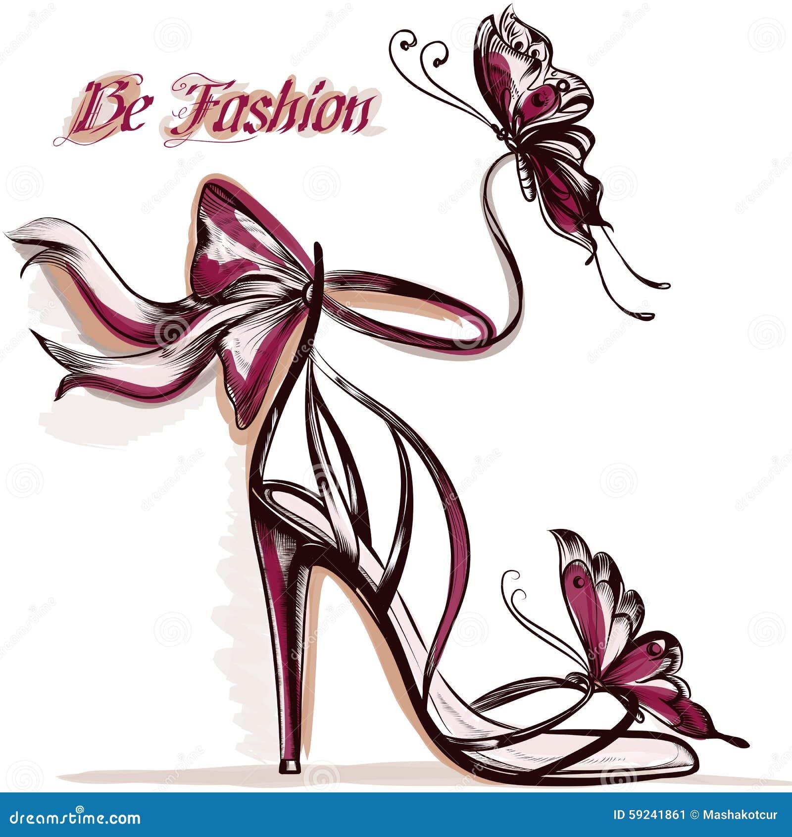 Forme el ejemplo con sandalias femeninas elegantes con el tacón alto