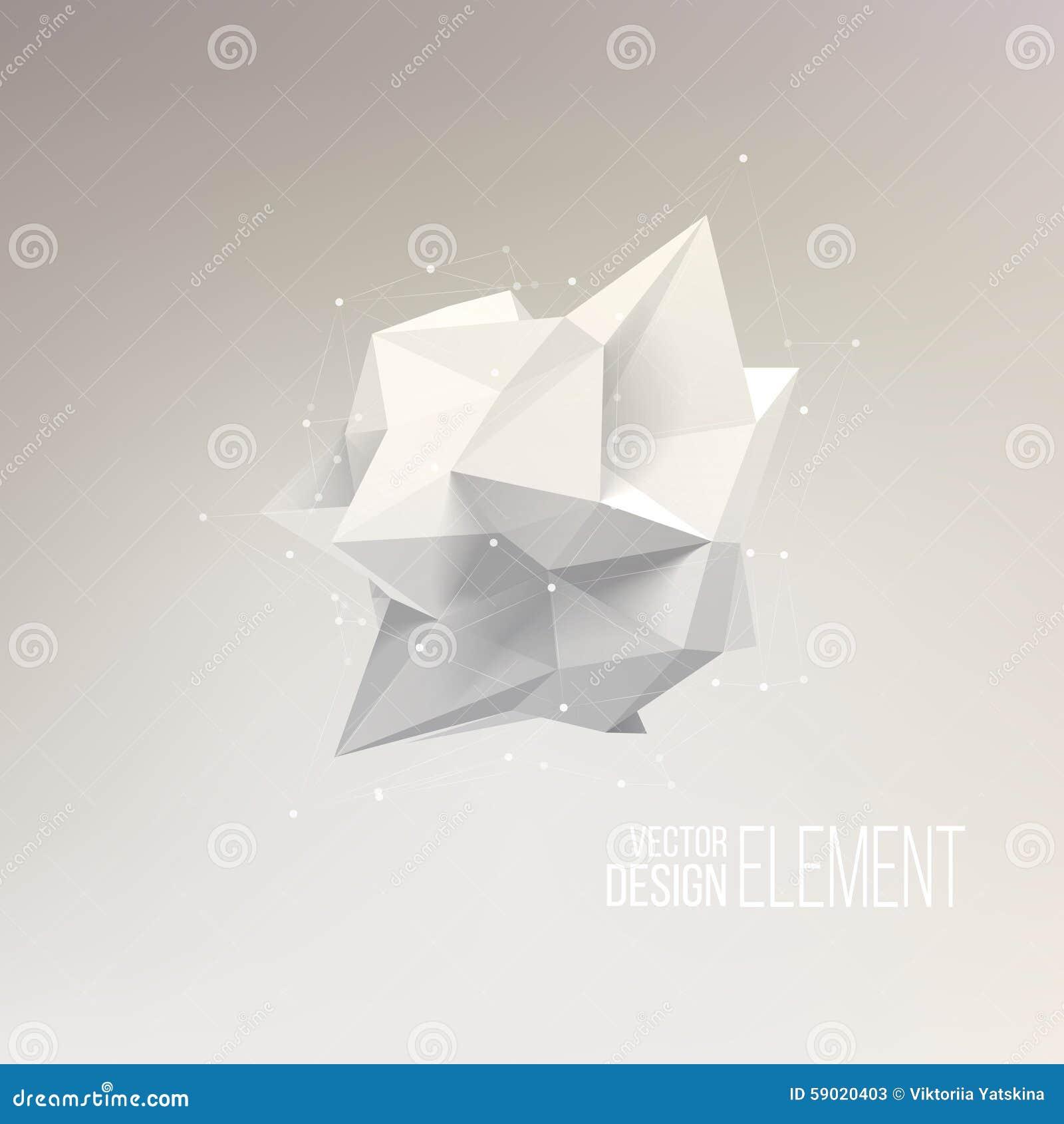 Forme Geometrique De Perspective De Technologie Du Resume 3d