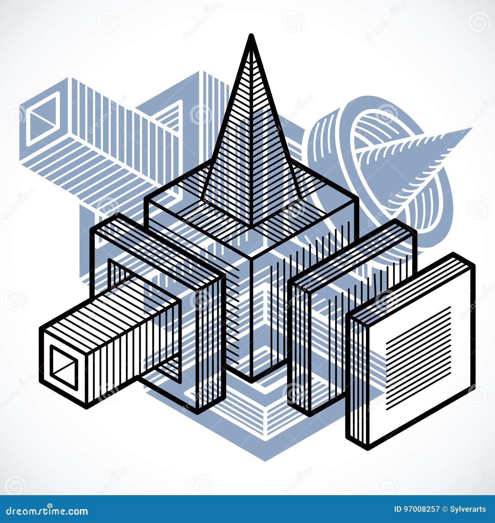Forme Geometrique De Vecteur Abstrait Forme 3d Creative