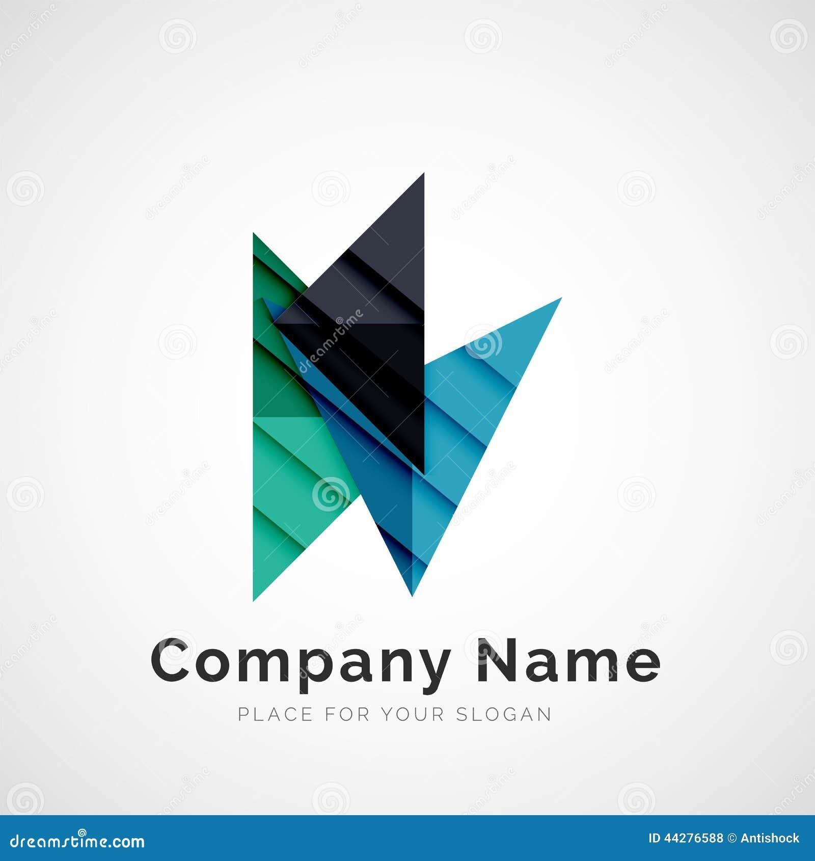 Superbe Forme Géométrique, Logo De Société Illustration de Vecteur #CJ_82