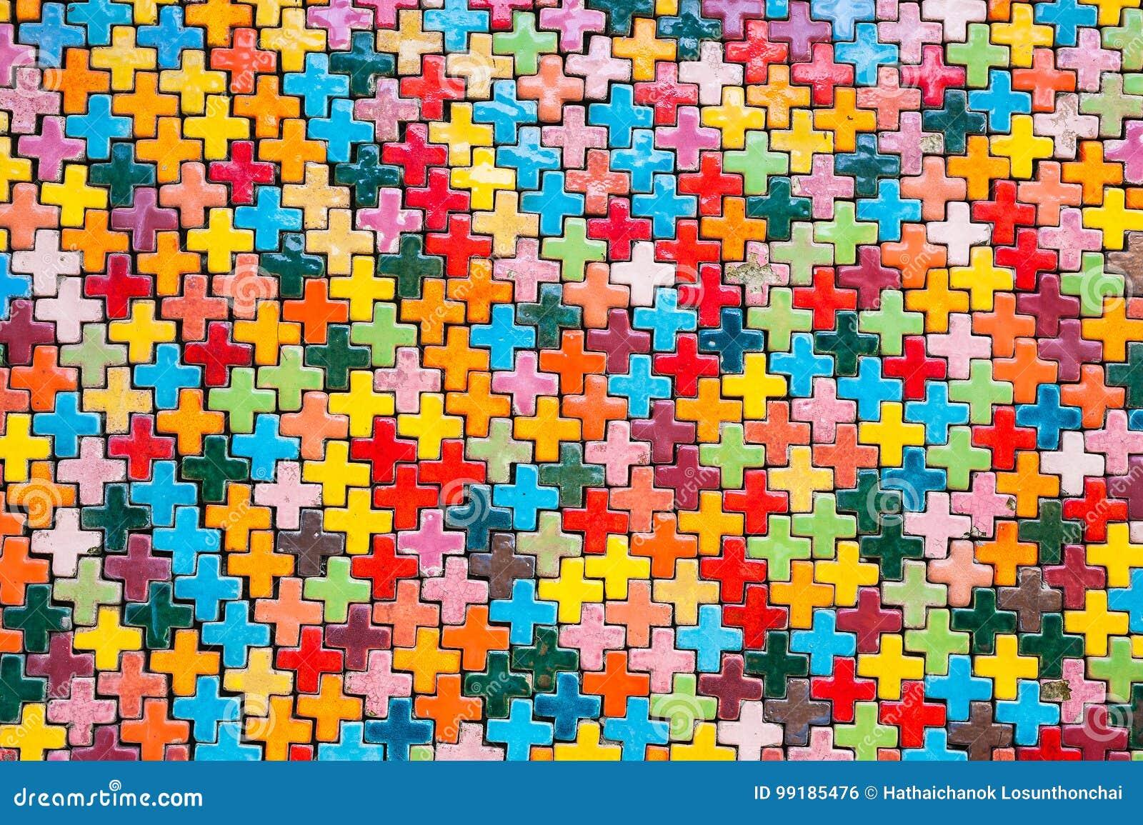 Forme geometriche variopinte ceramiche fotografia stock immagine