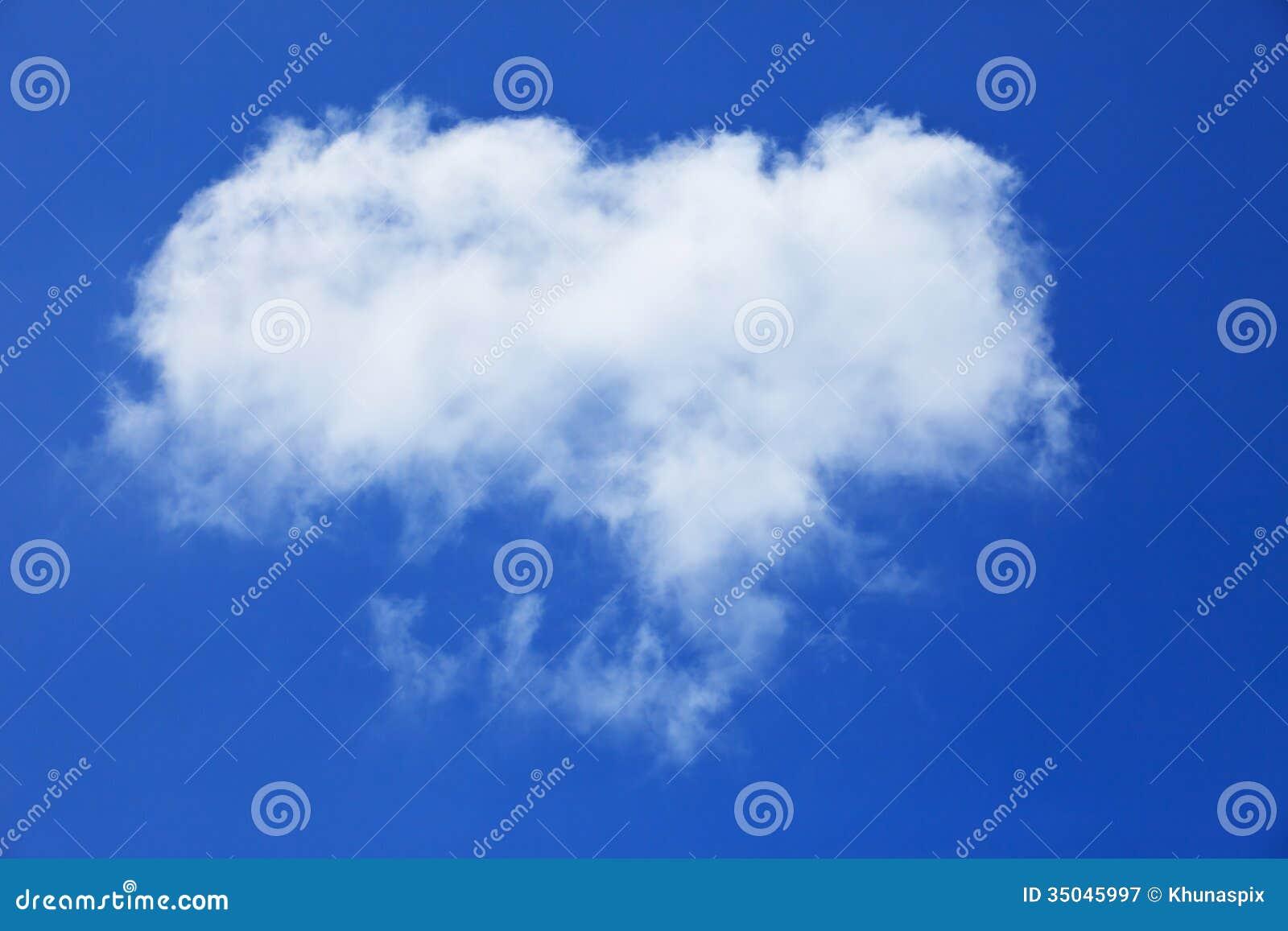 Forme Gratuite De Nuage Blanc Sur Le Ciel Bleu Image Stock Image