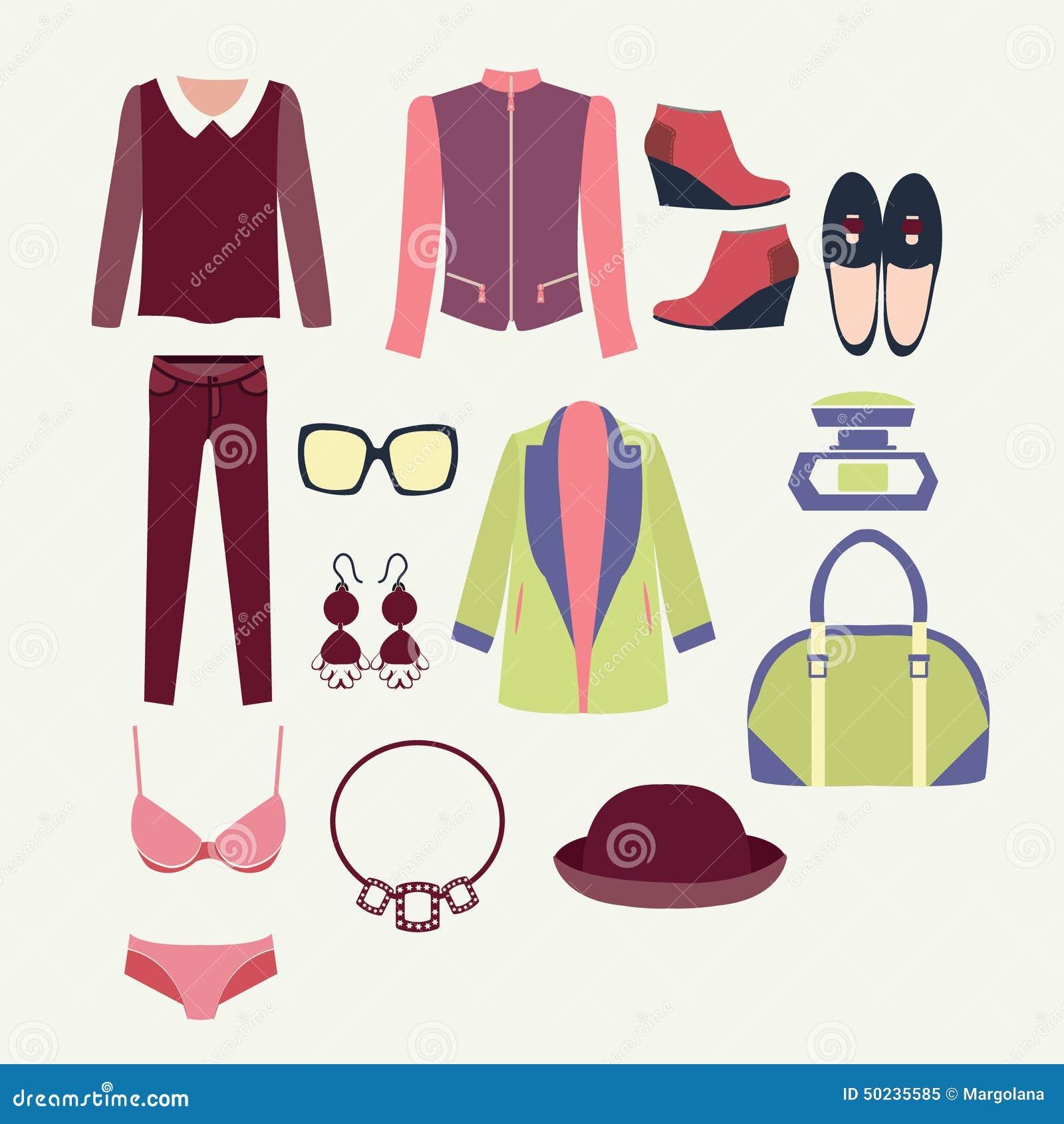 Forme la ropa y los accesorios para las mujeres para el for Diseno de ropa
