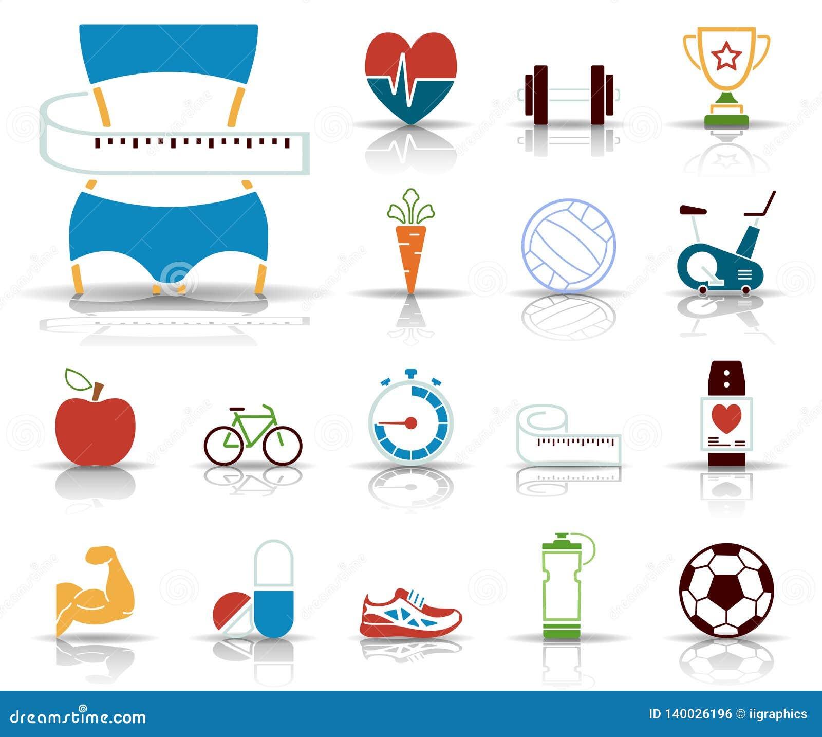 Forme physique et aliments de préparation rapide - Iconset - icônes