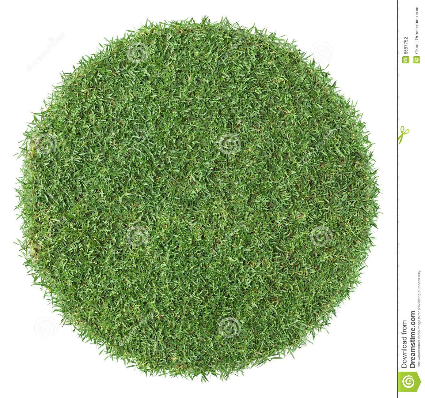 Forme ronde d herbe