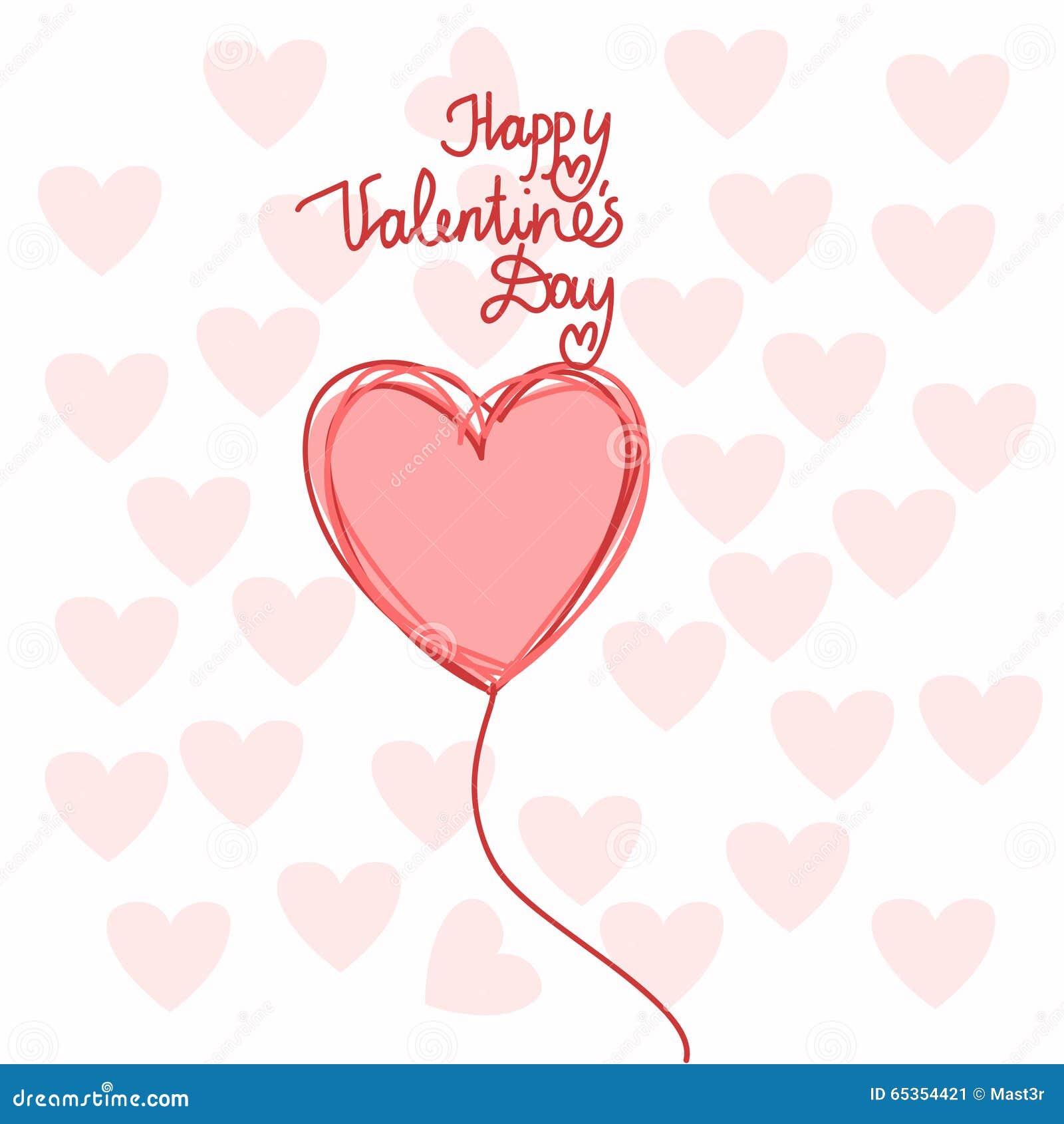 Forme Valentine Day heureux de coeur