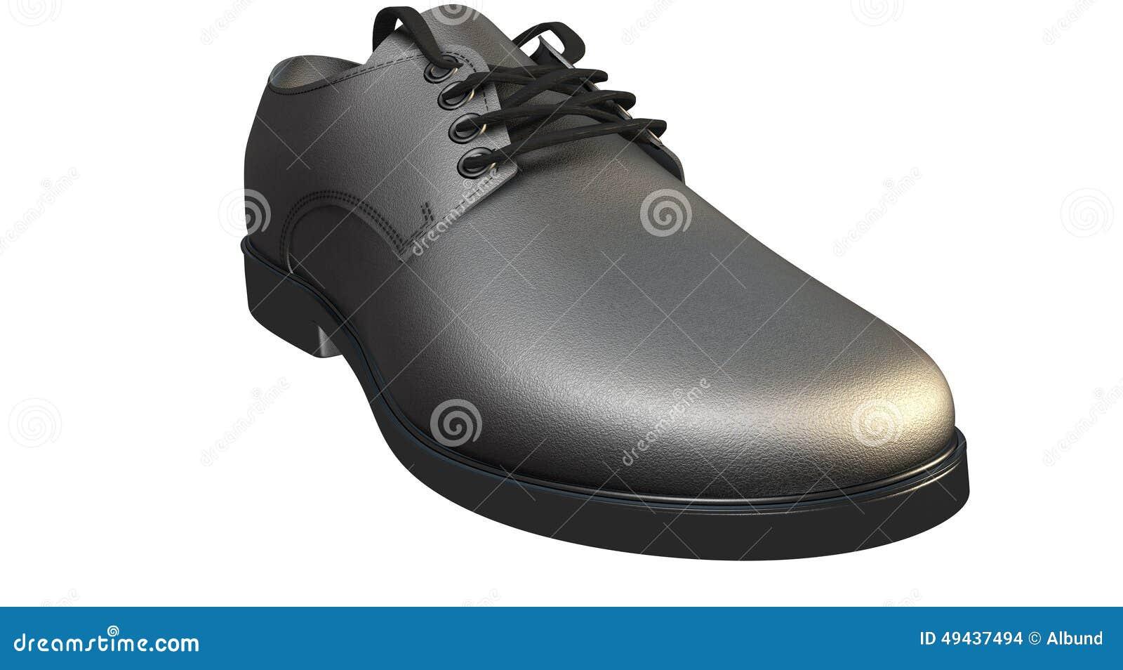 Formell svart lädersko