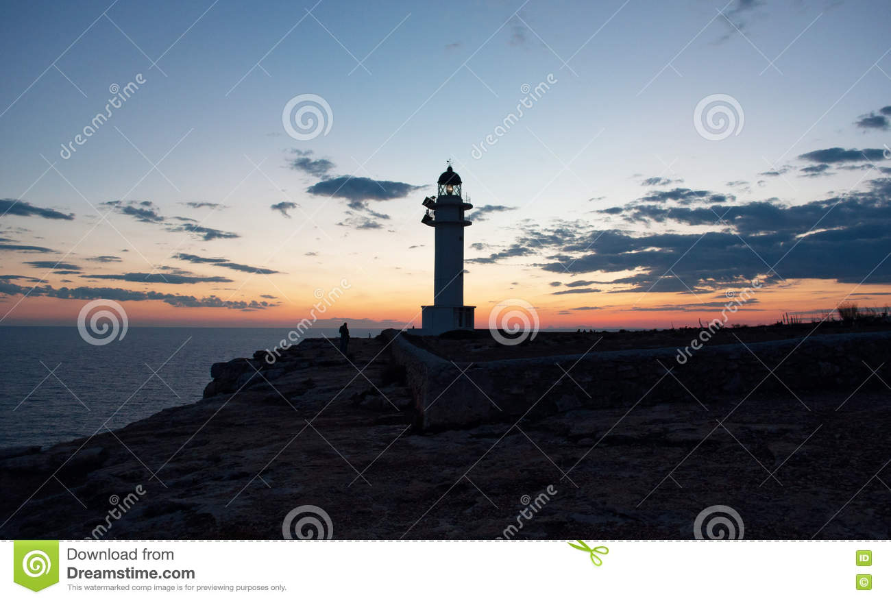 Formentera, Balearic Islands, Spain, Europe, lighthouse, Cap de Barbaria, sunset point, Mediterranean Sea, nature, landscape