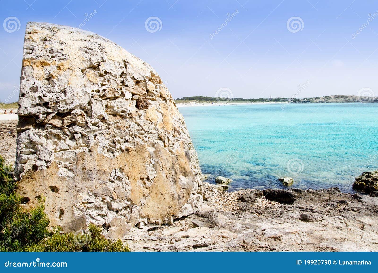 Formentera Illetes Illetas Beach Turquoise Sea Stock Photo - Image: 19920790