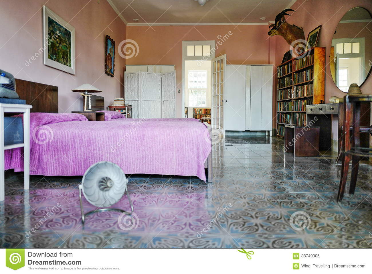Former Home Of Ernest Hemingway In Cuba Editorial Image - Image of