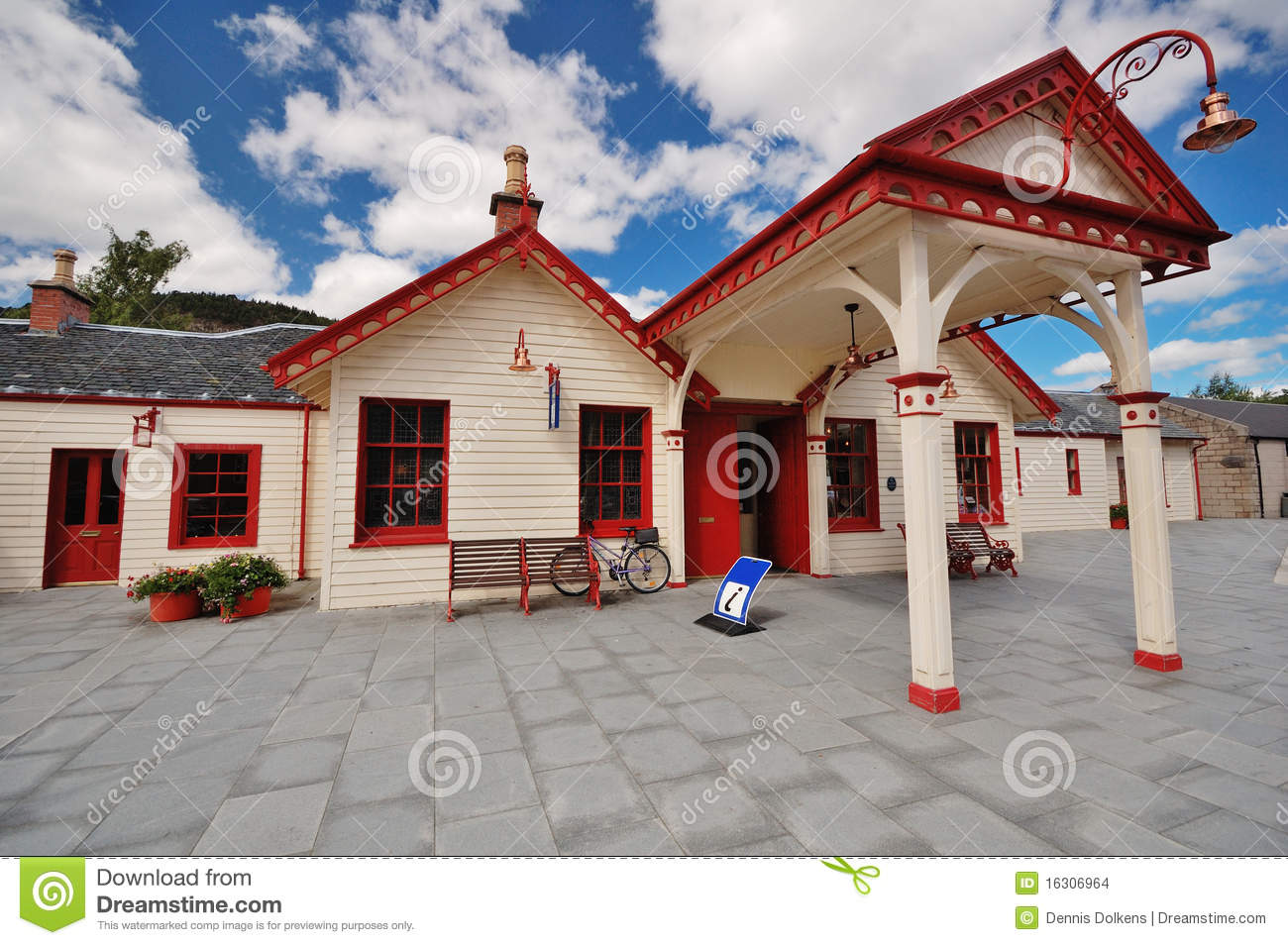 The former Royal Station at Ballater, Scotland