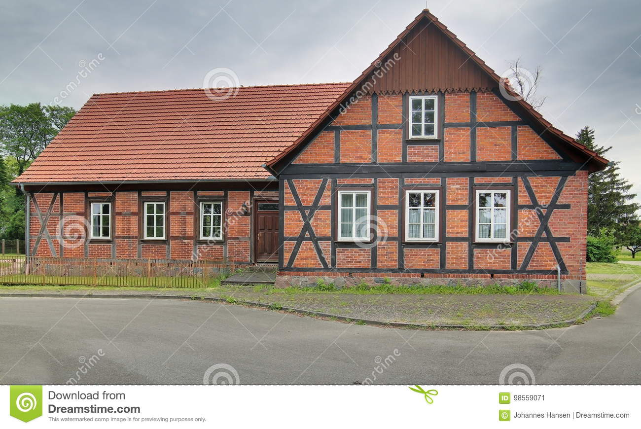 Former school, listed as monument in Trantow, Mecklenburg-Vorpommern, Germany