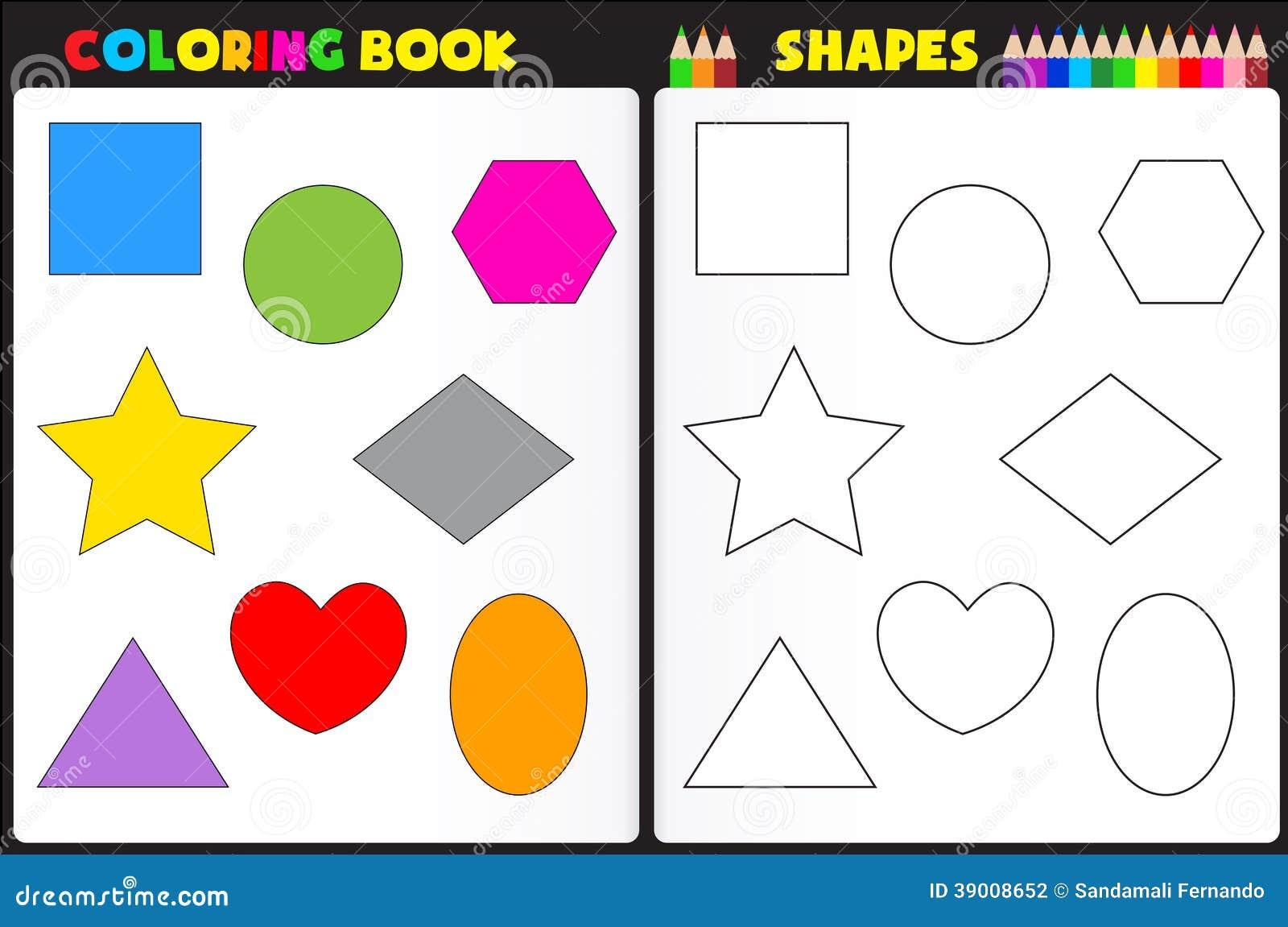 Formes de livre de coloriage illustration de vecteur - Coloriage des formes ...