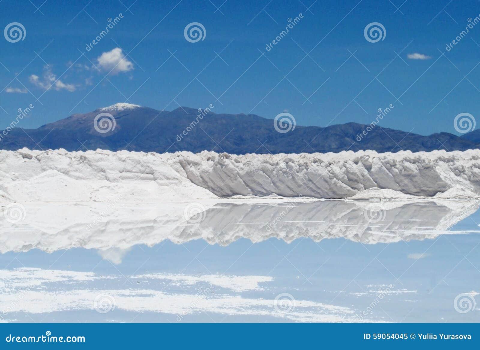 Formes de sel au lac de sel