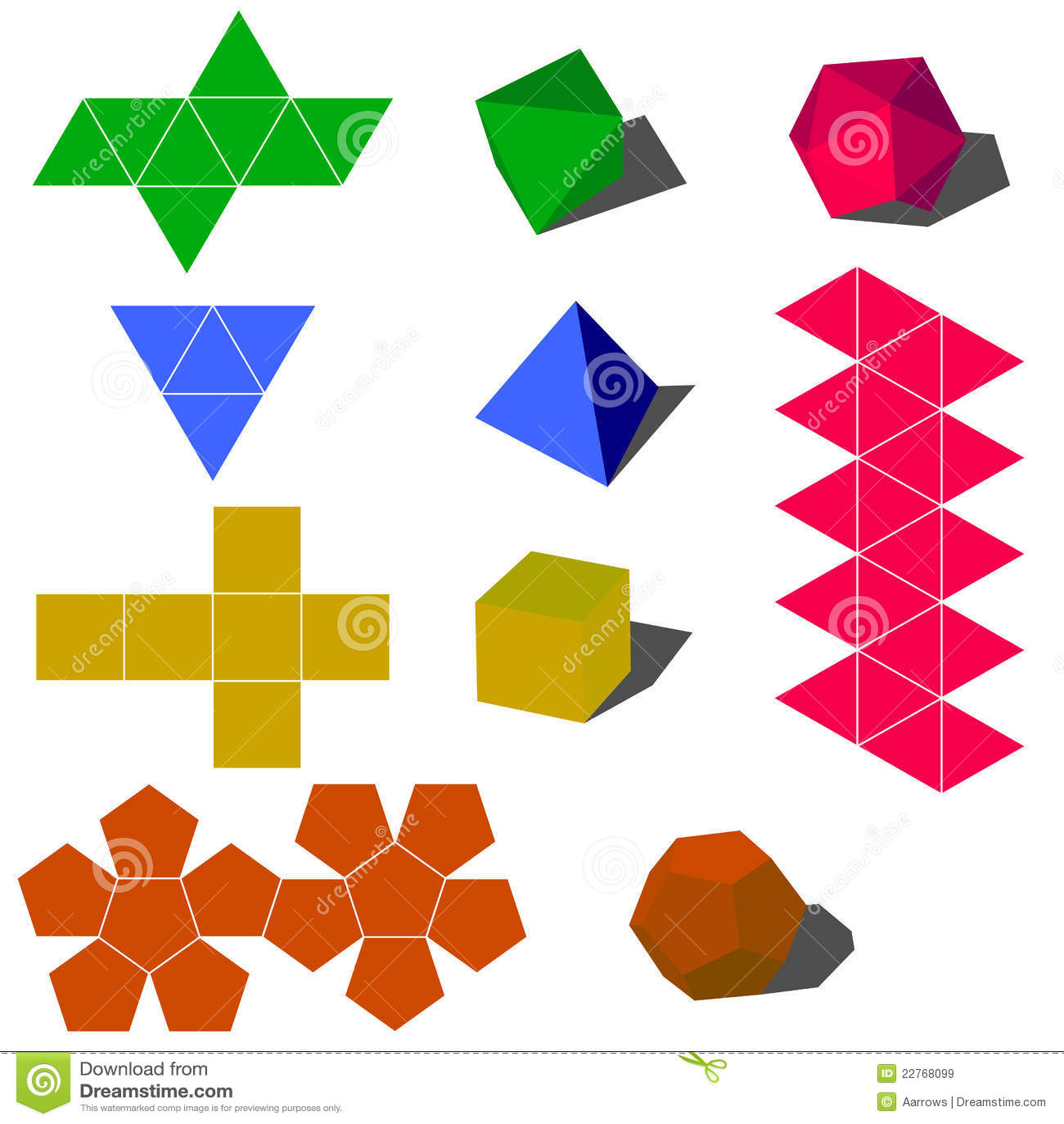 Beliebt Formes Géométriques De Vecteur De Colorfull 3d Images libres de  LA18