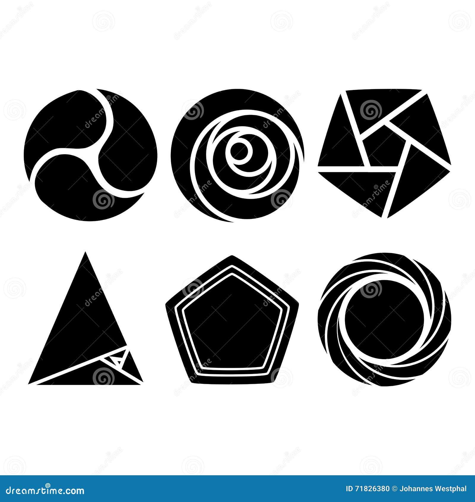 Top Formes Géométriques - En Rond Et Vecteur Géométrique Triangulaire  PJ24