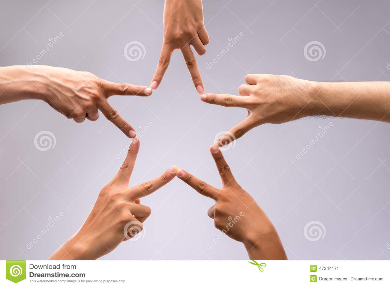 Forming star shape stock image. Image of care, network ...