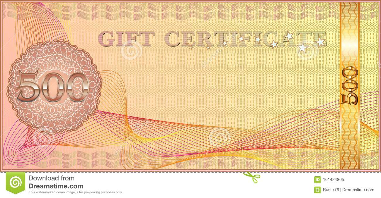 Forms For Gift Certificates. Stock Vector - Illustration of banner ...