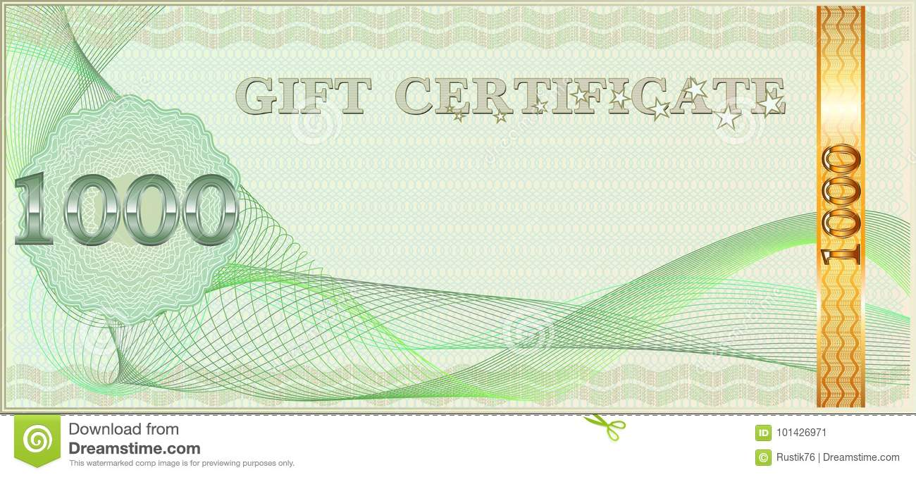 forms for gift certificates stock vector illustration of cheque