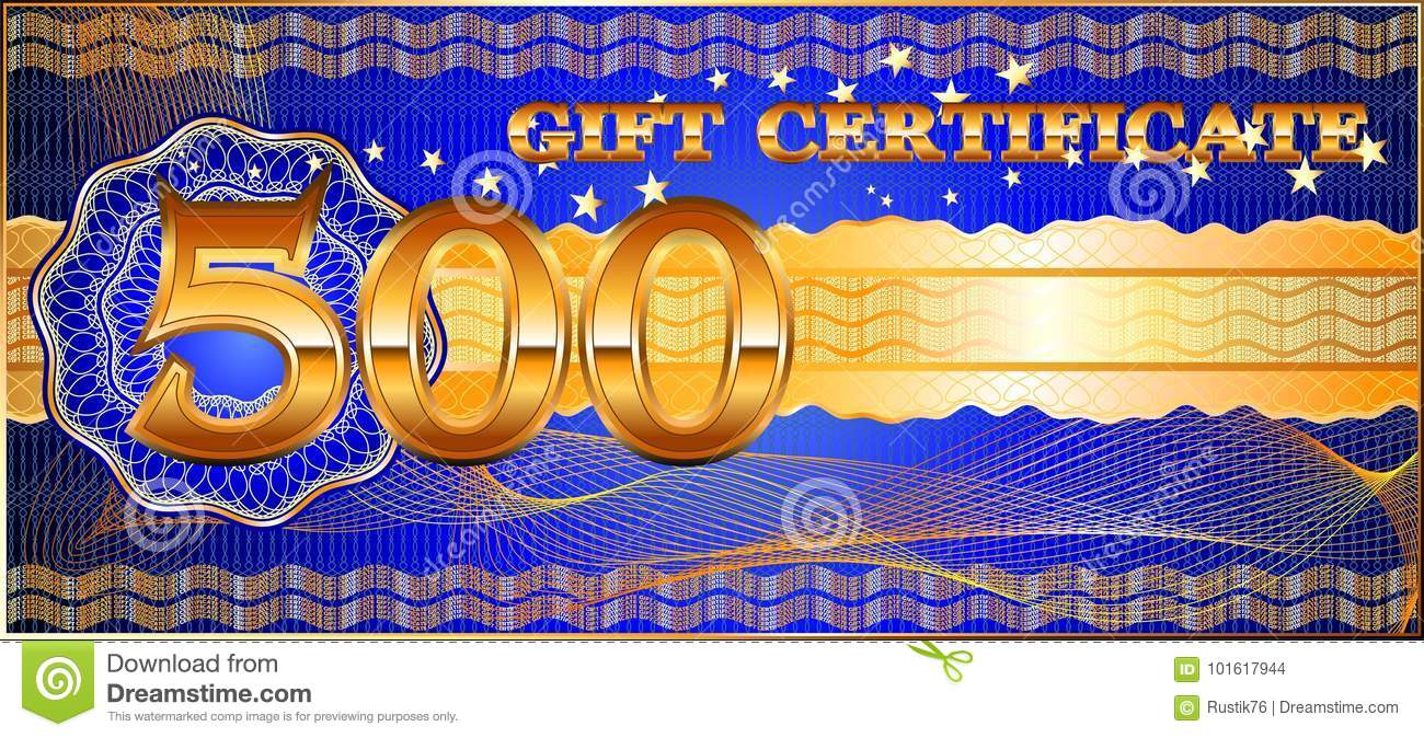 forms for gift certificates stock vector illustration of complex
